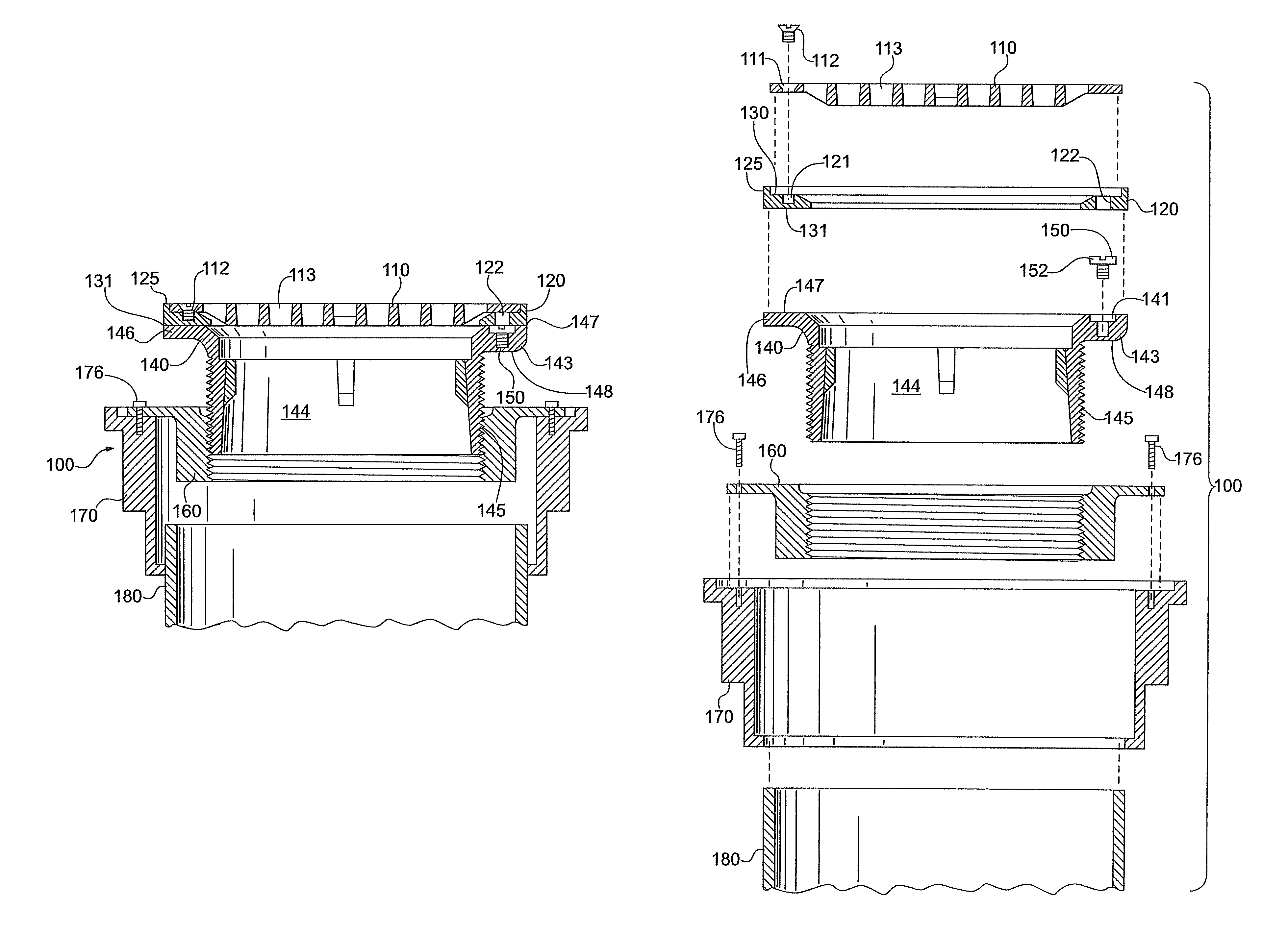 Patent us8347424 leveling mechanism for floor drain google patents patent drawing dailygadgetfo Choice Image