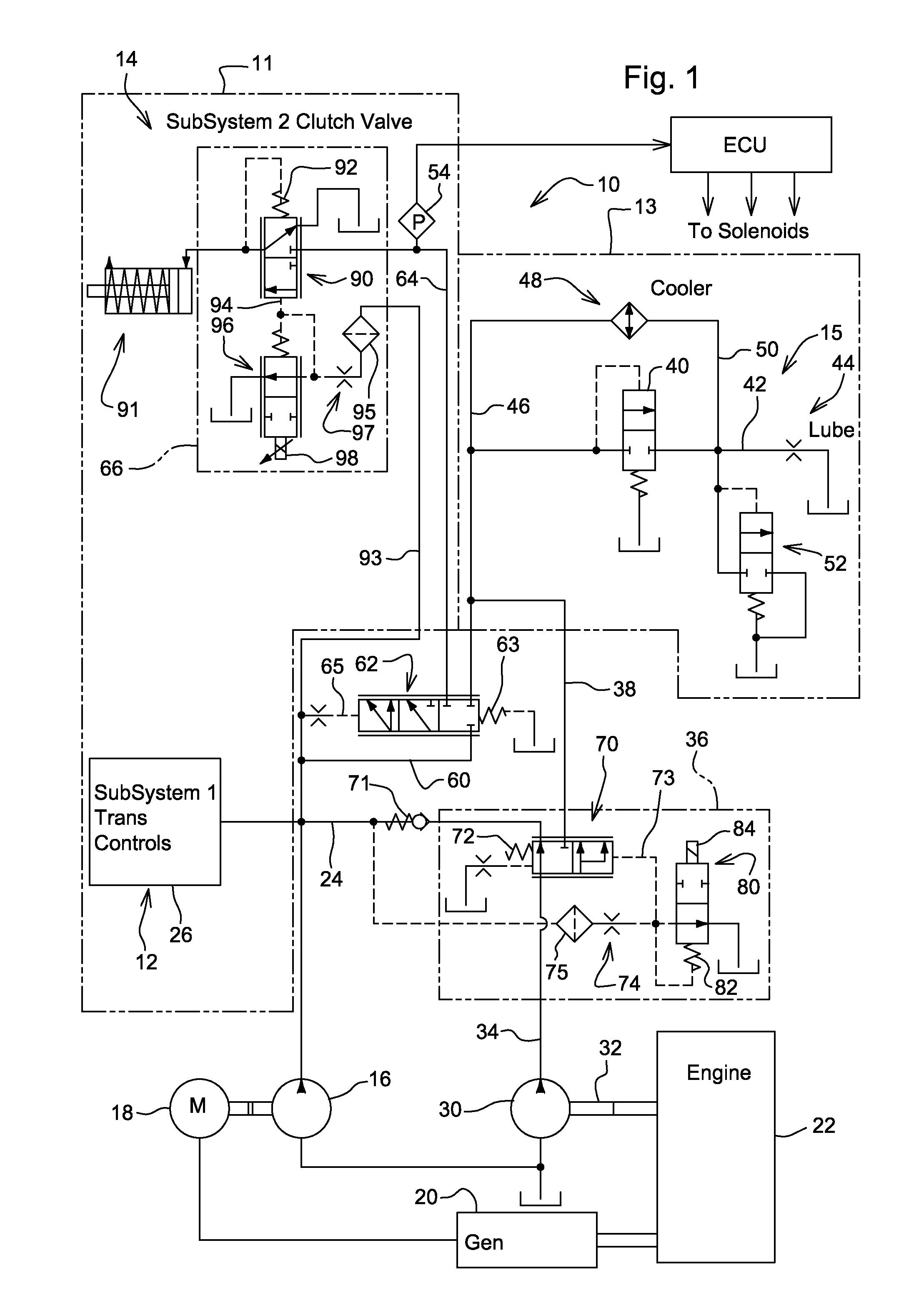 patent us8347618 - dual pump hydraulic system
