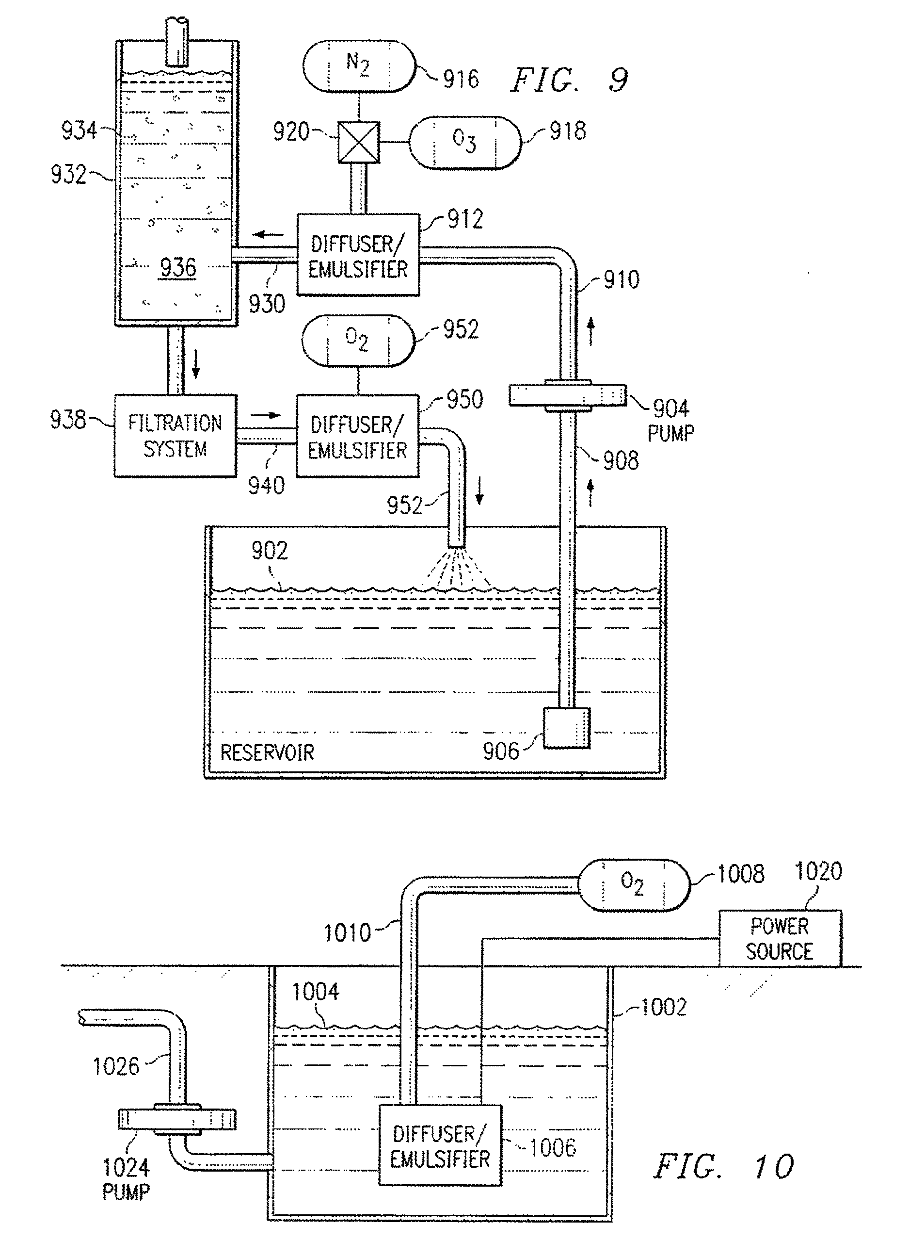 patent us8349191 diffuser emulsifier for aquaculture patent drawing