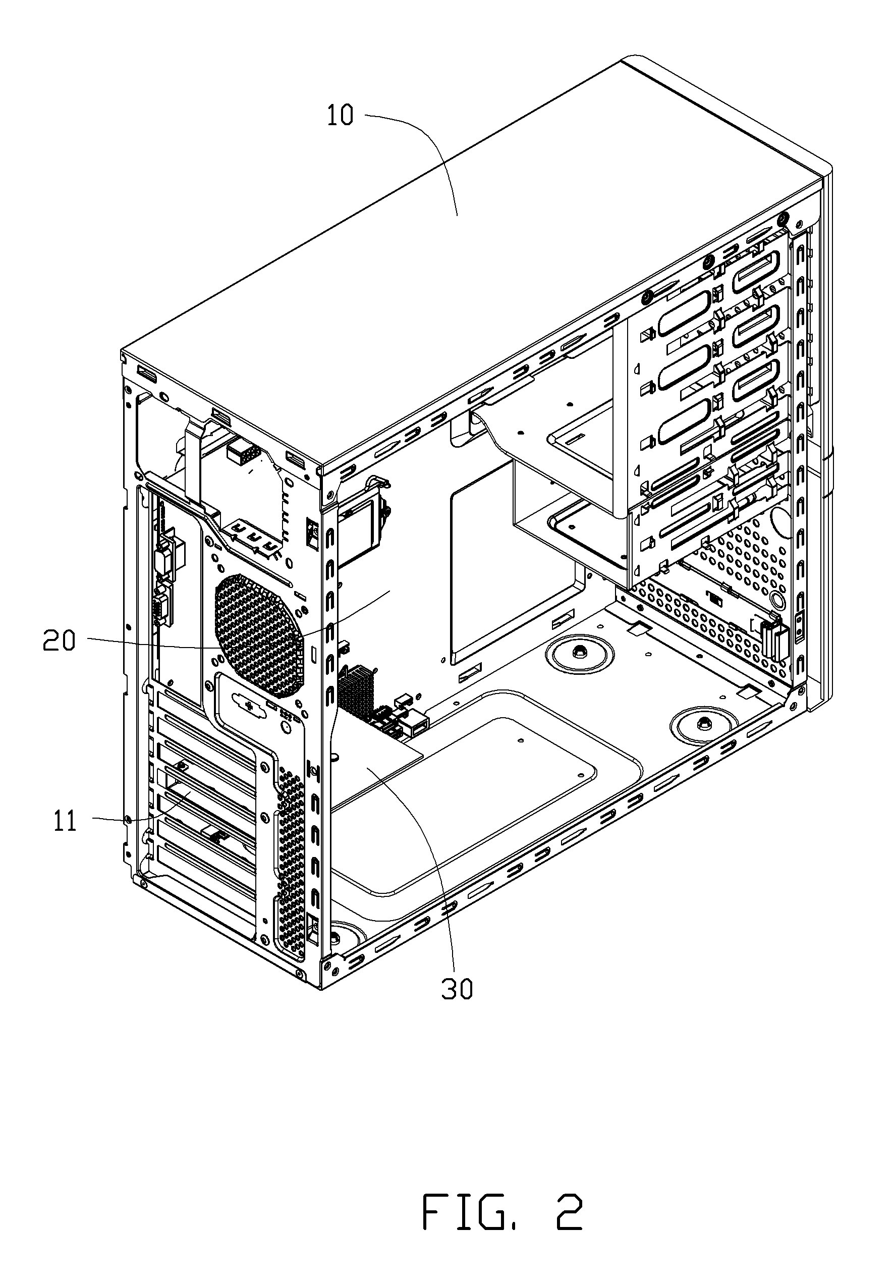 patent us8351199 - computer case with dehumidification
