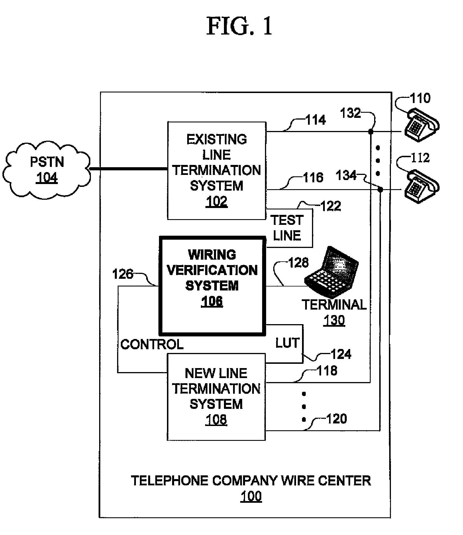 Patent US8351578 - System for installation testing of telephone line ...