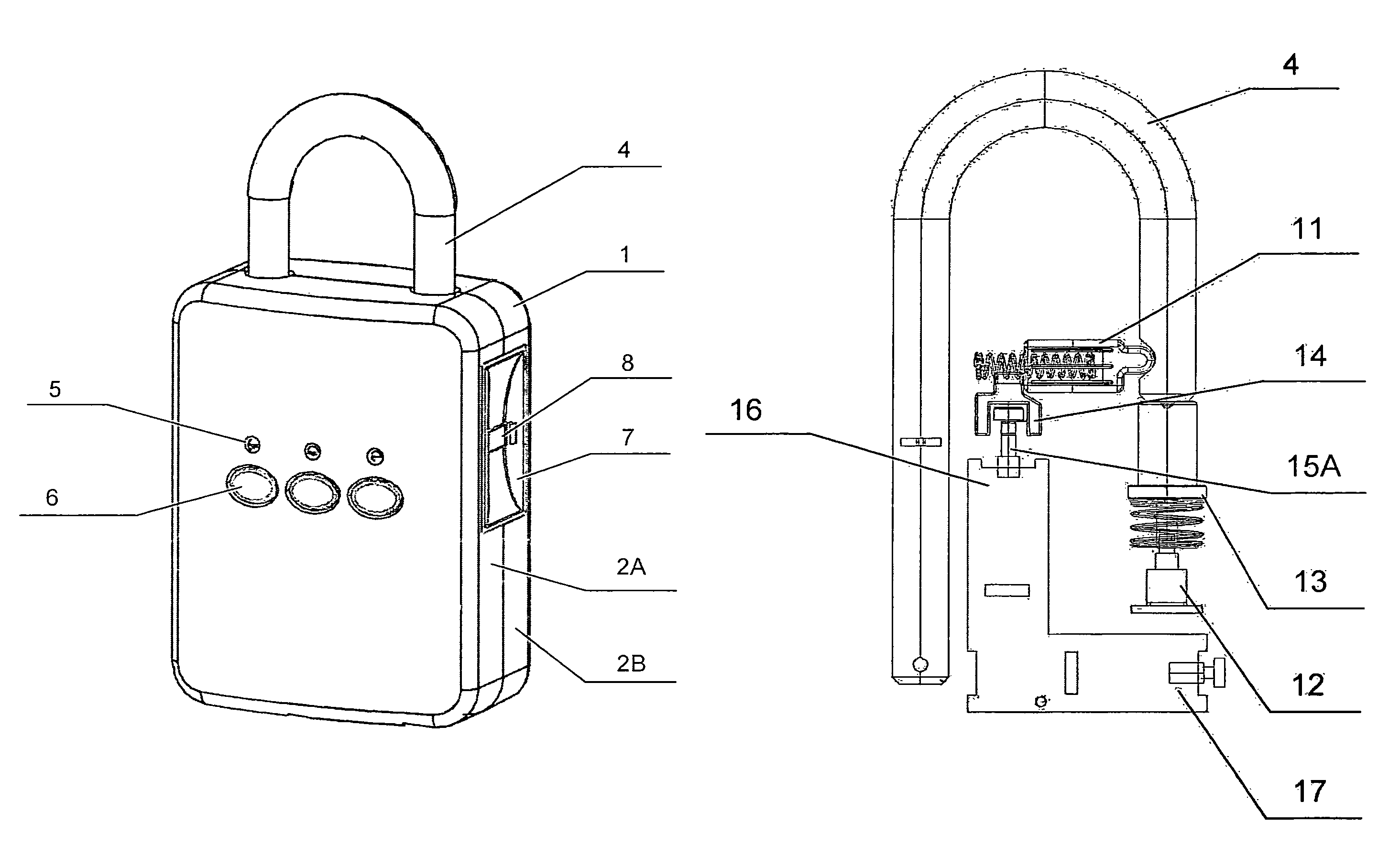 US08353187 20130115 D00000 patent us8353187 padlock device using an electromagnetic switch padlock diagram at crackthecode.co