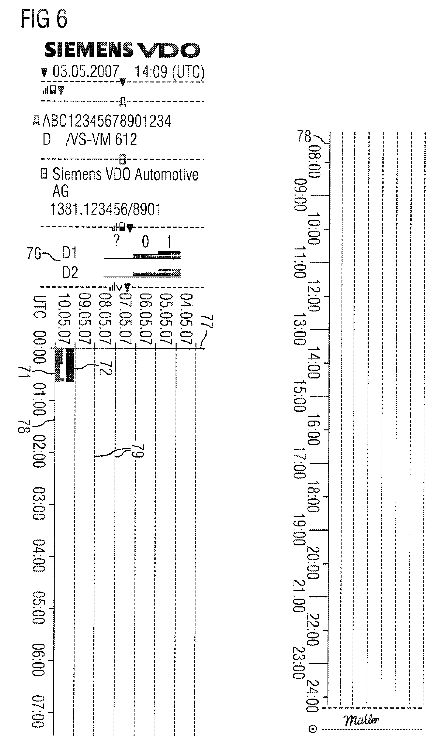 patent us8353587 method and device for dispensing data from a