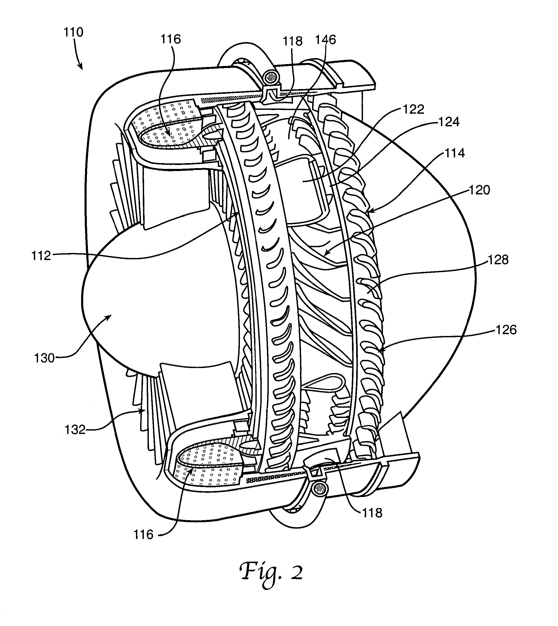Patent US Gas turbine engine with dual pression rotor