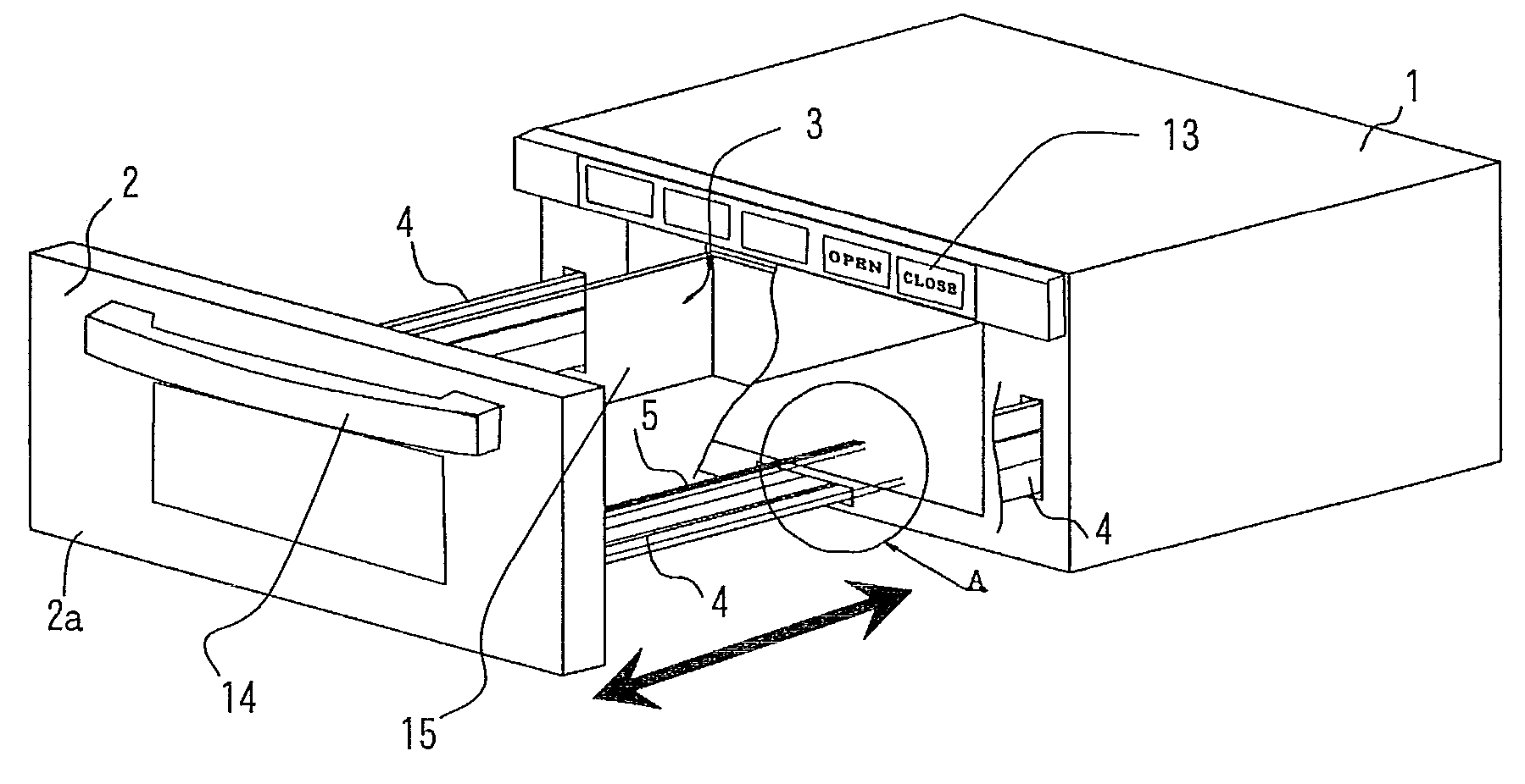 patent us8357886 - drawer type cooking device