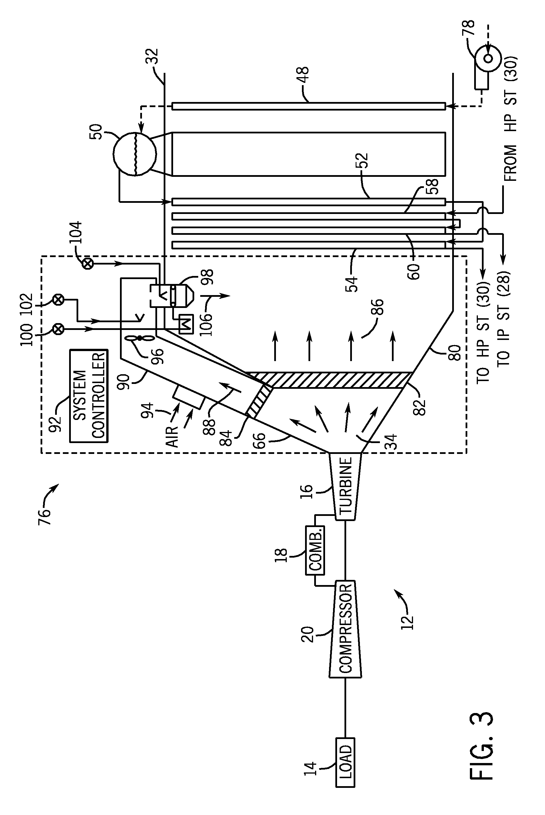 Patent US Low BTU fuel flow ratio duct burner for heating