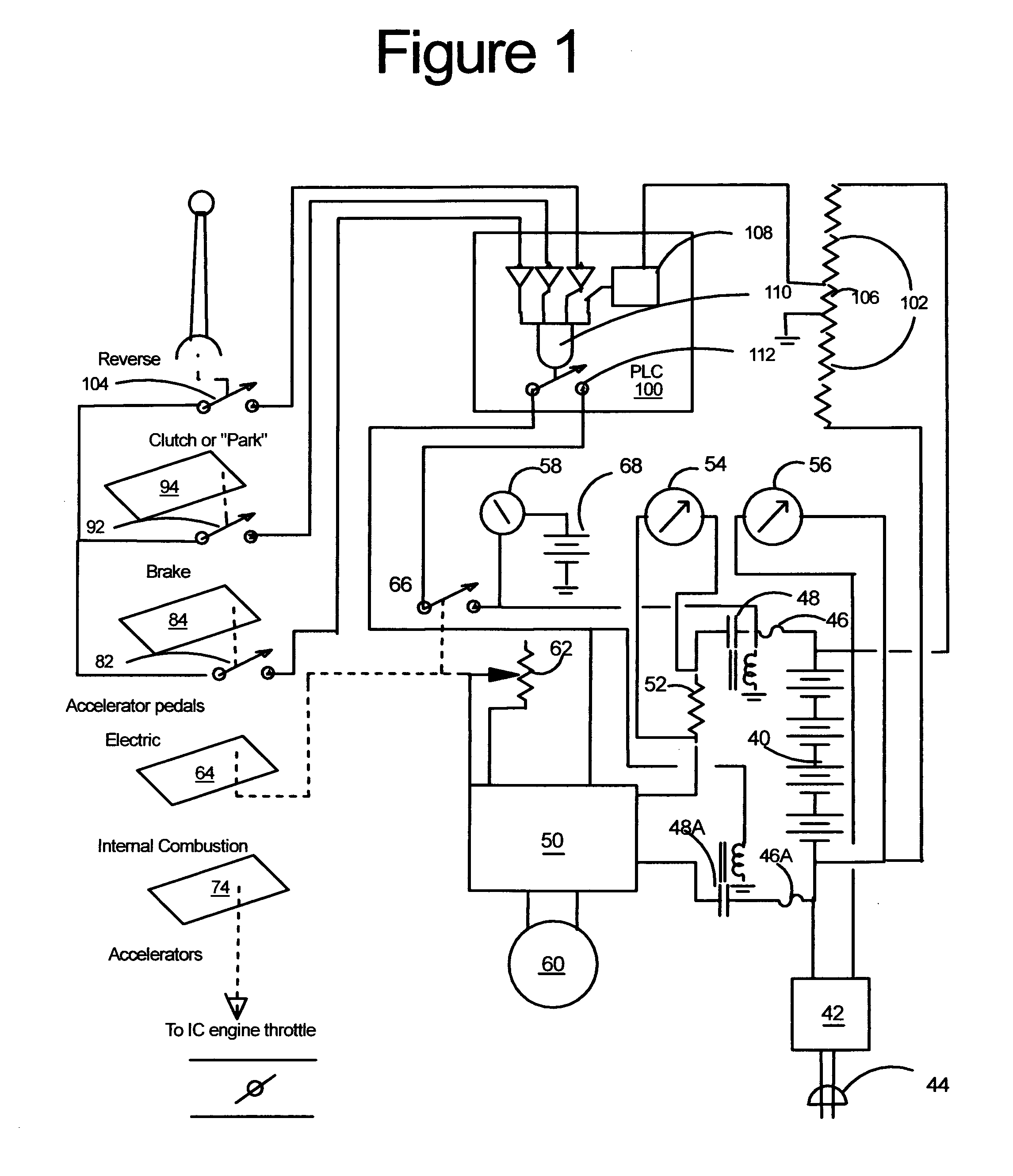 patent us control system for electric hybrid vehicle patent drawing