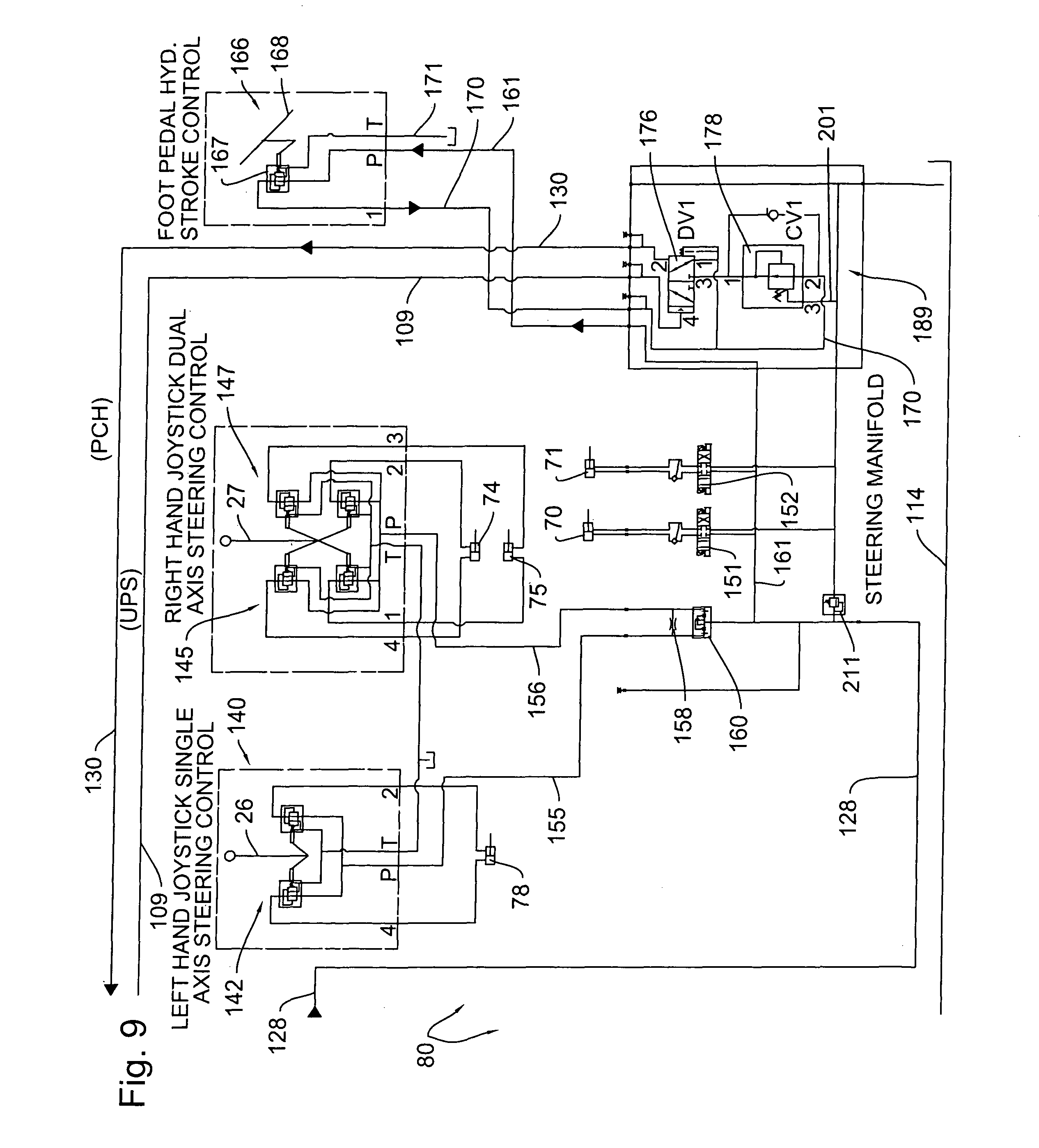 US08360680 20130129 D00009 patent us8360680 hydraulic riding trowels with automatic load sauer danfoss joystick wiring diagram at n-0.co