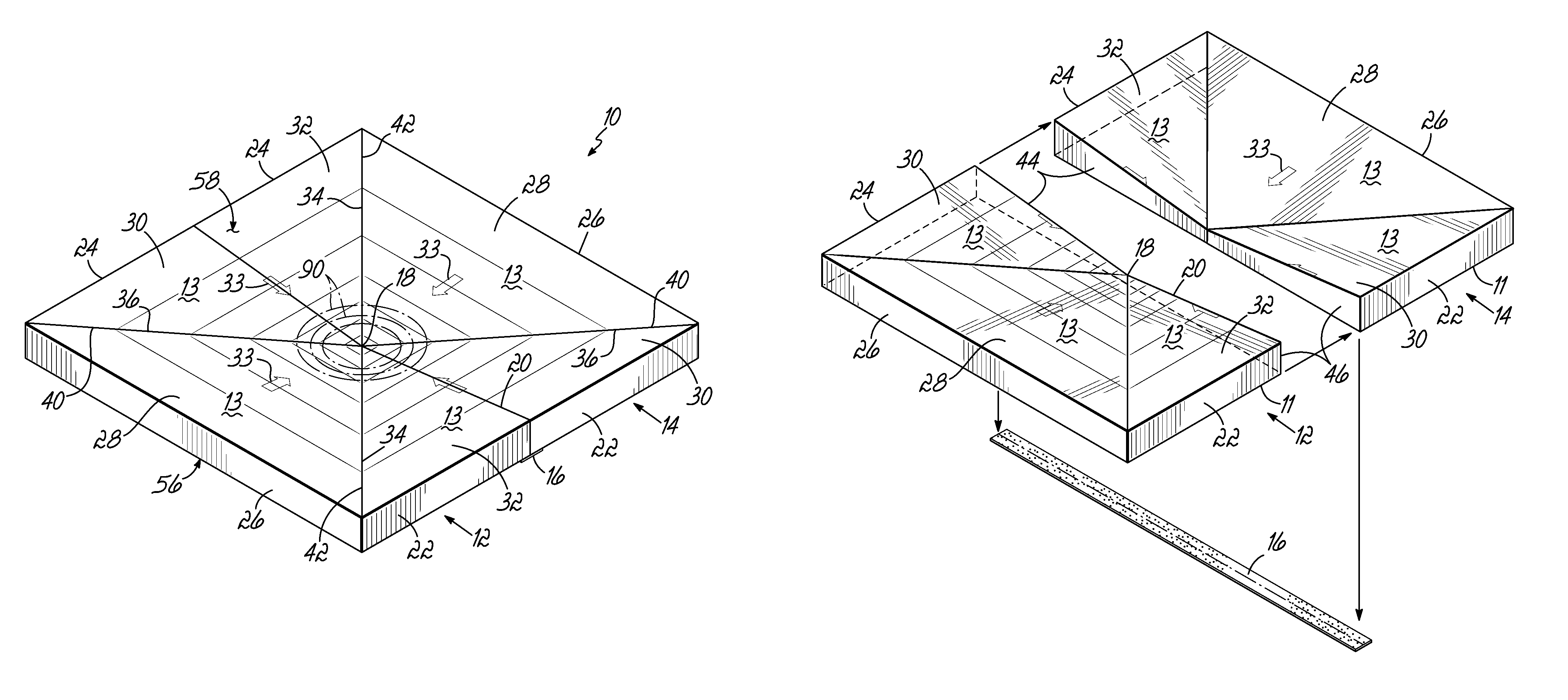 Patent us8365487 roof sump structure google patents for Roof drawing app