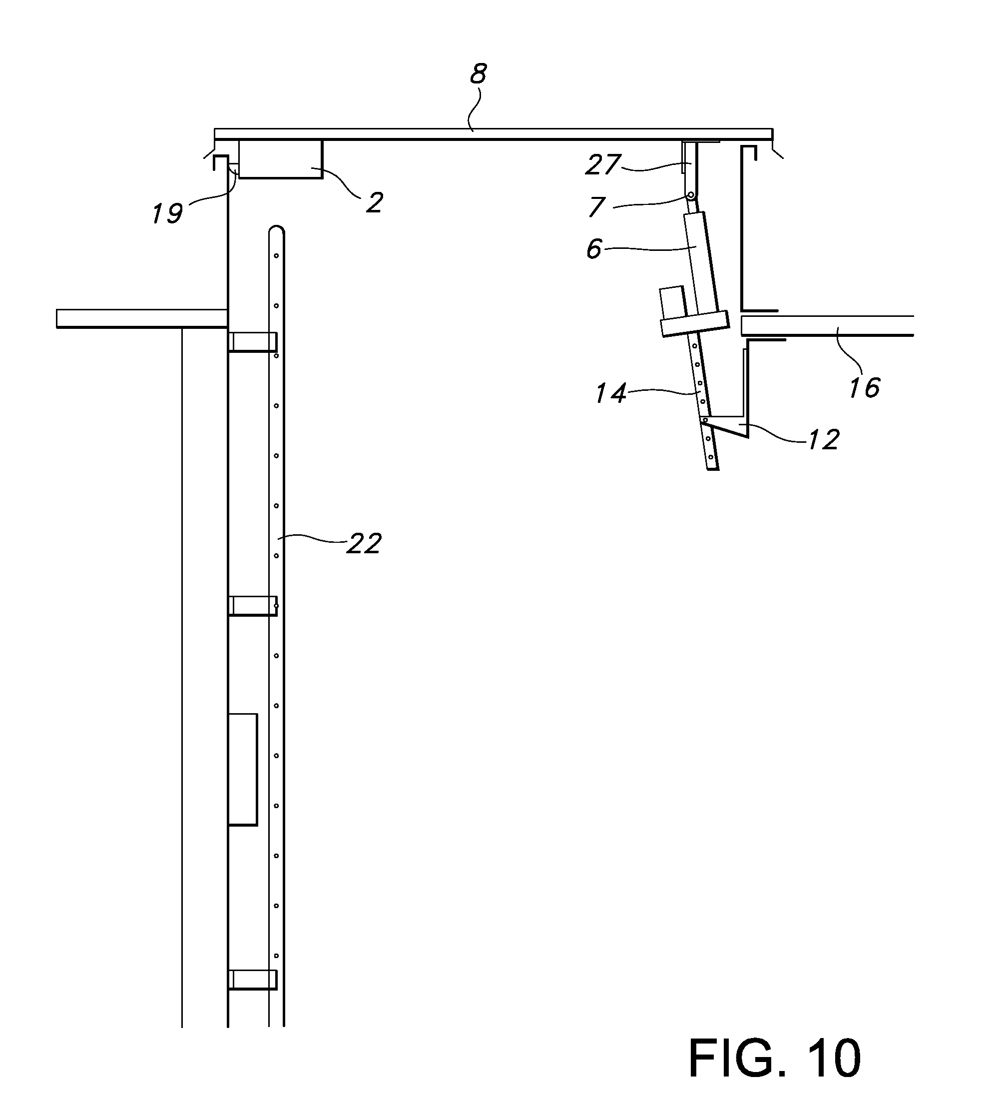 patent us remote locking roof access hatch patents patent drawing