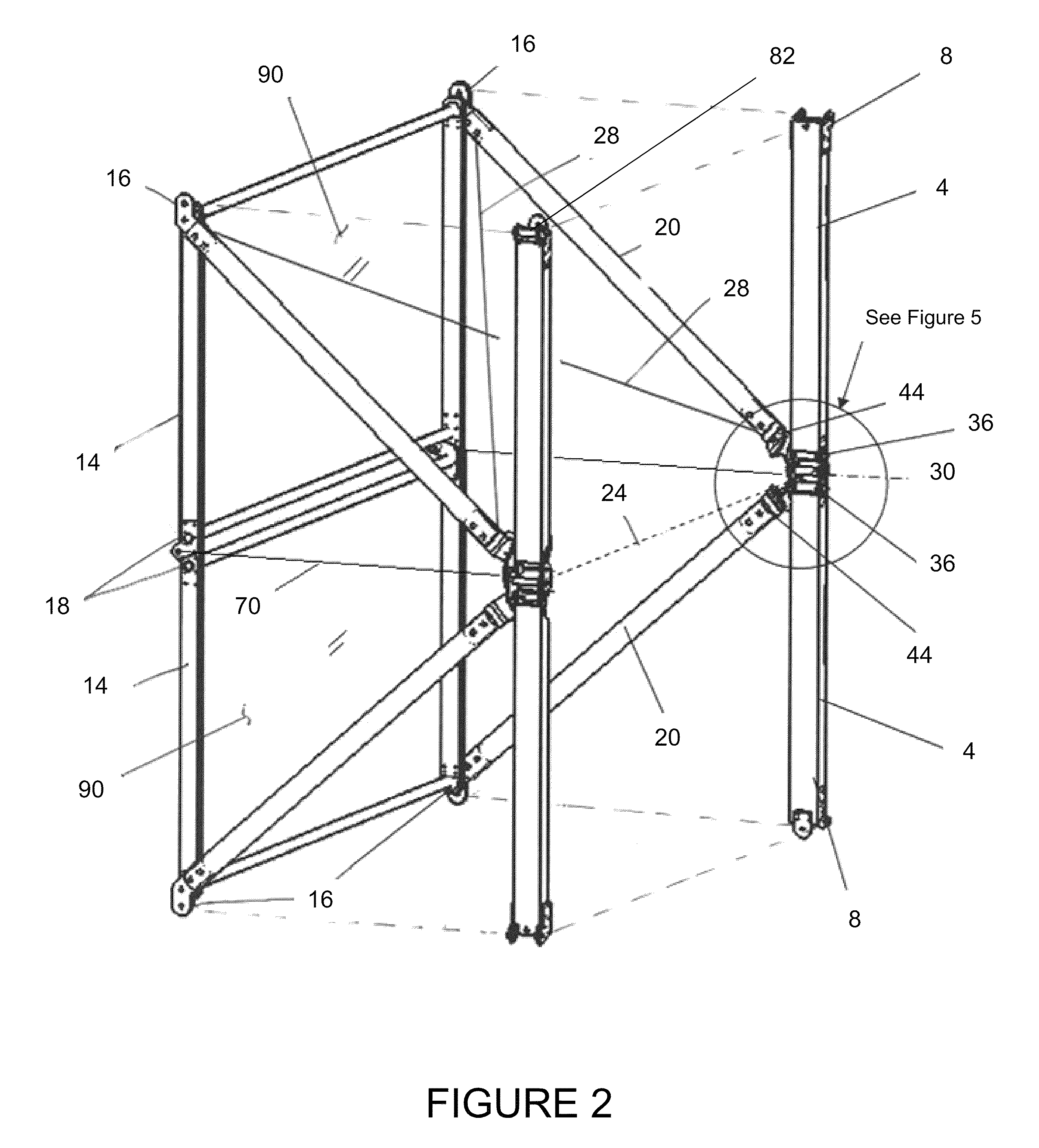 patent us8371088 - deployable truss with integral folding panels