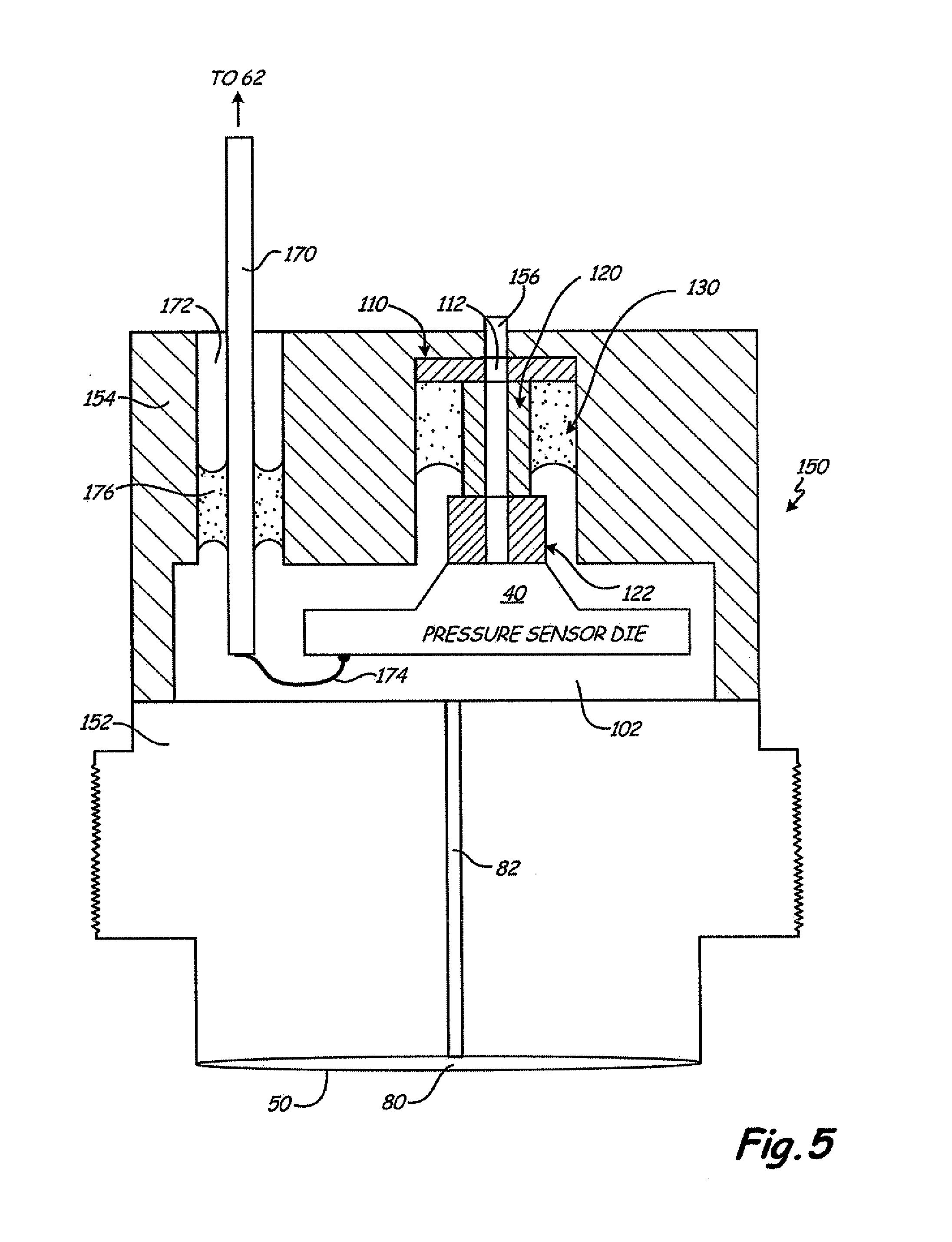 patent us8371175 - pressure transmitter with pressure sensor mount