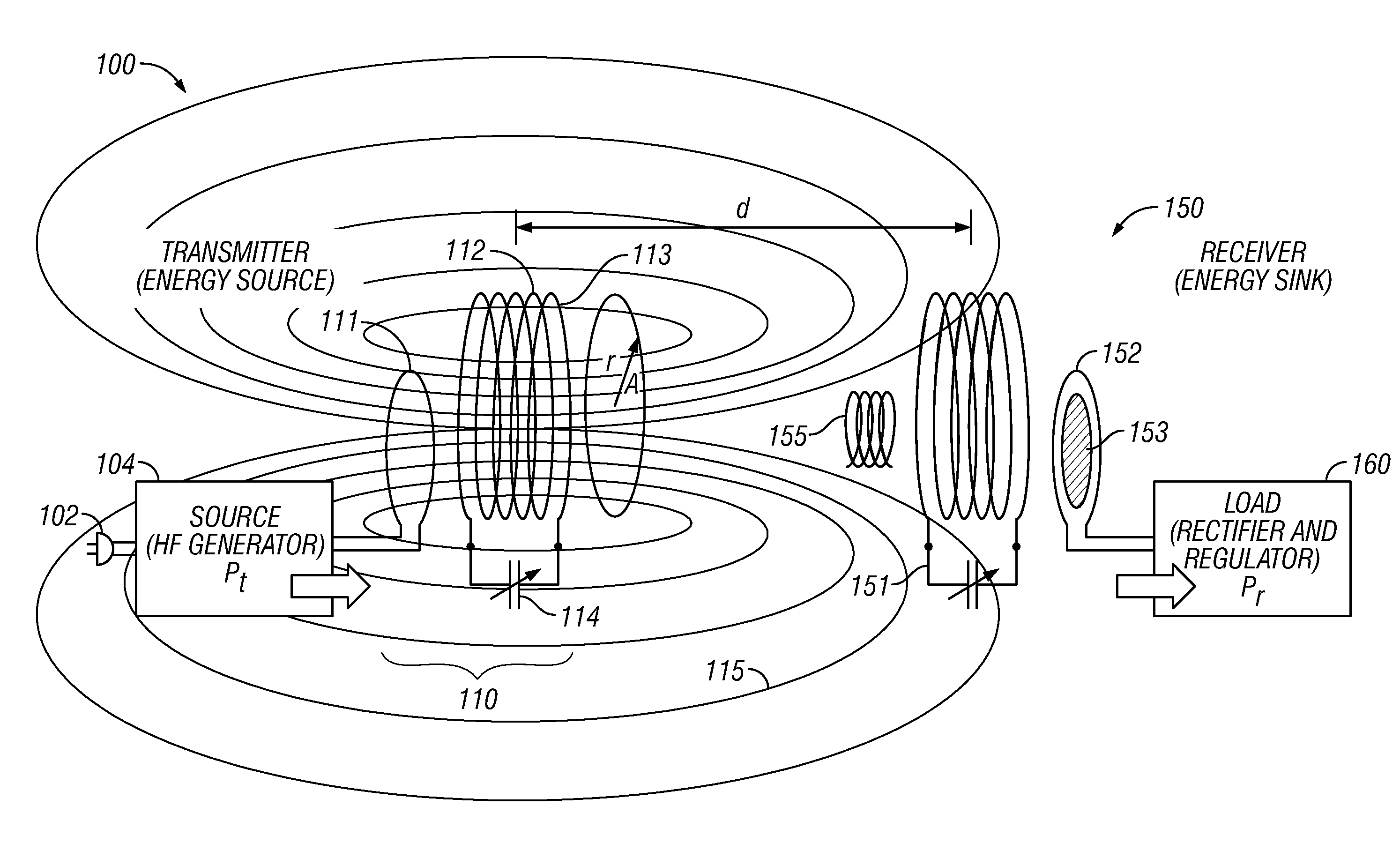 patent us8378523 - transmitters and receivers for wireless energy transfer
