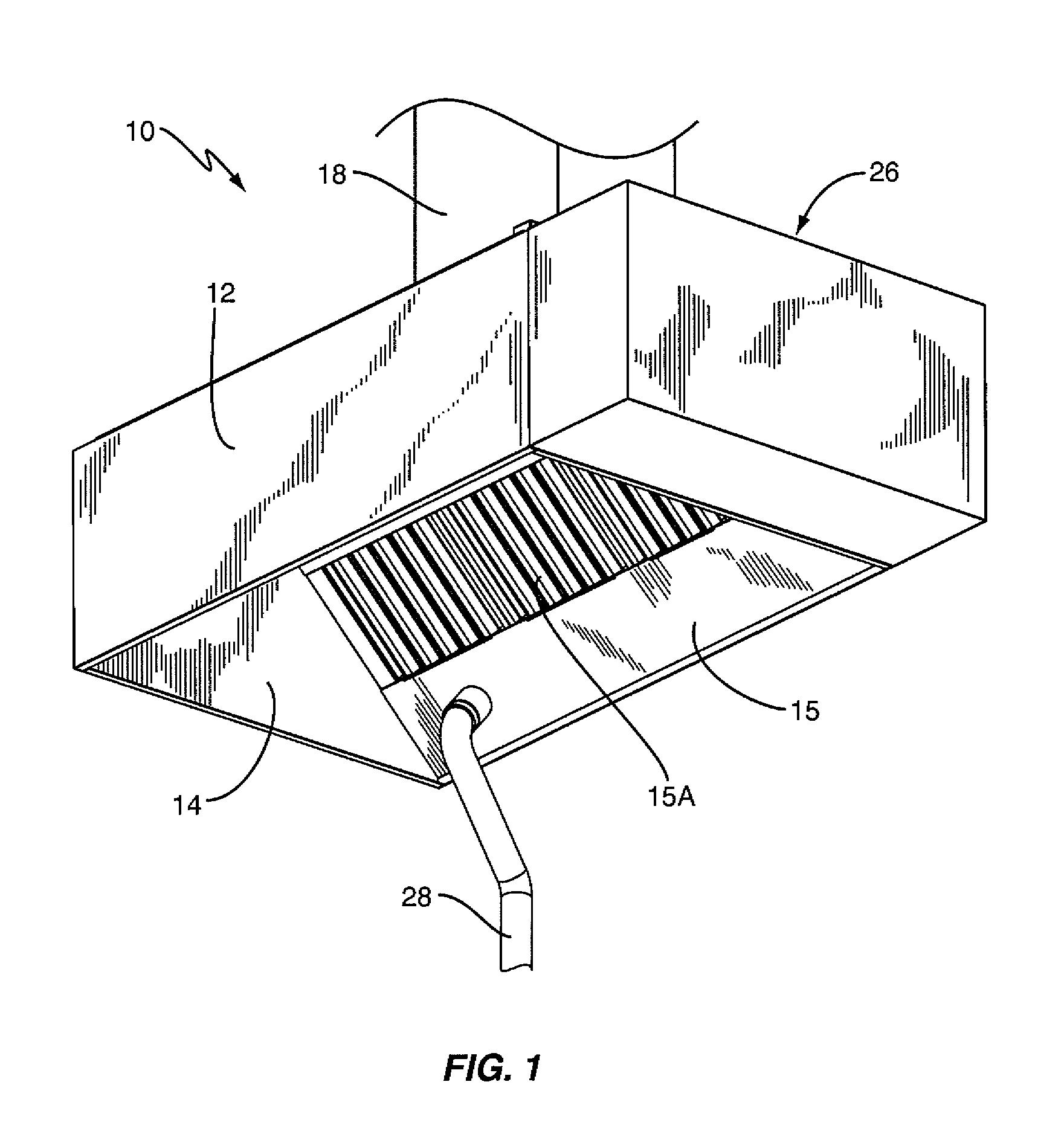 patent us kitchen hood assembly fire suppression patent drawing