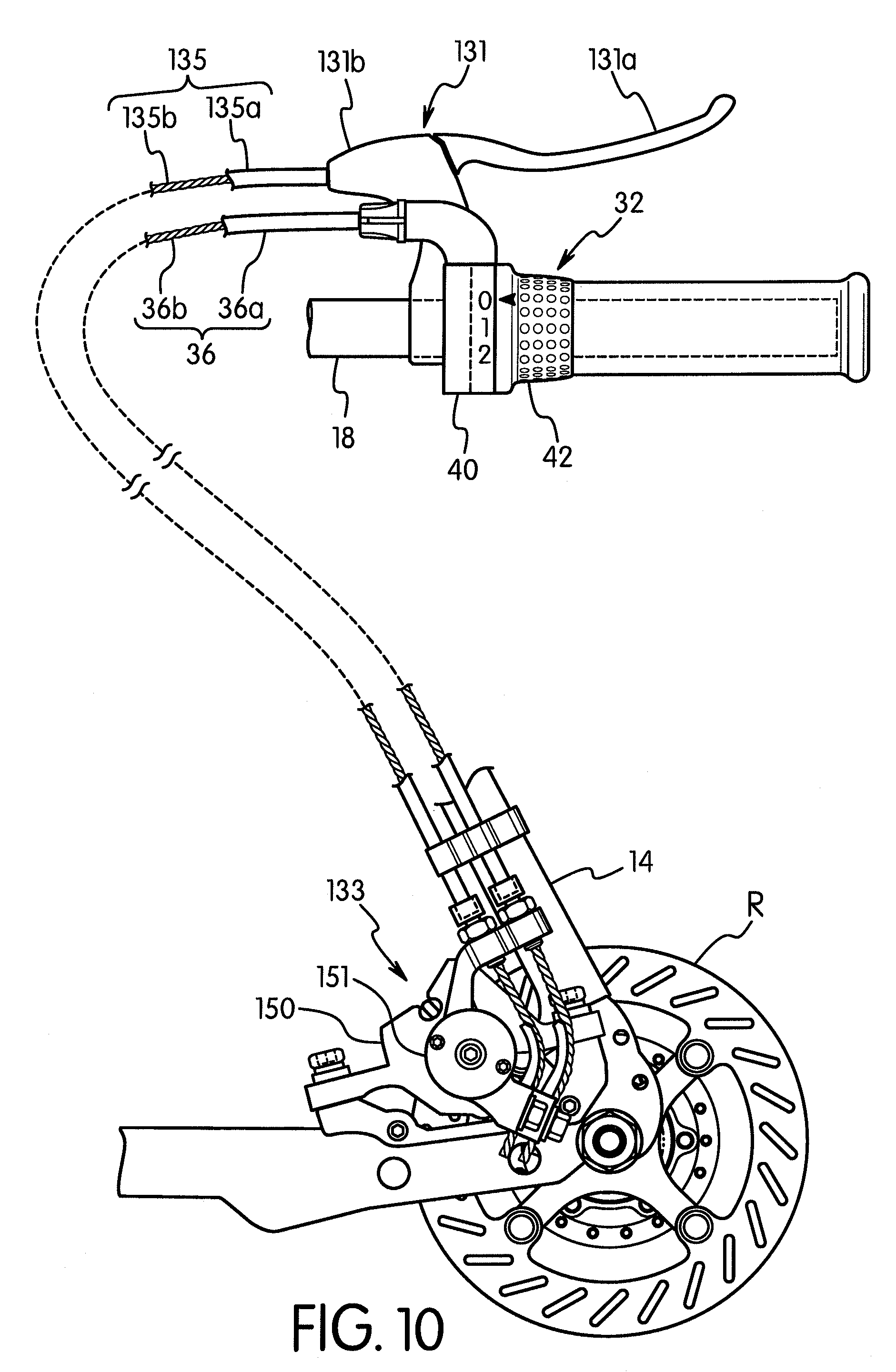 Bicycle Brake Systems : Patent us bicycle braking system google patents