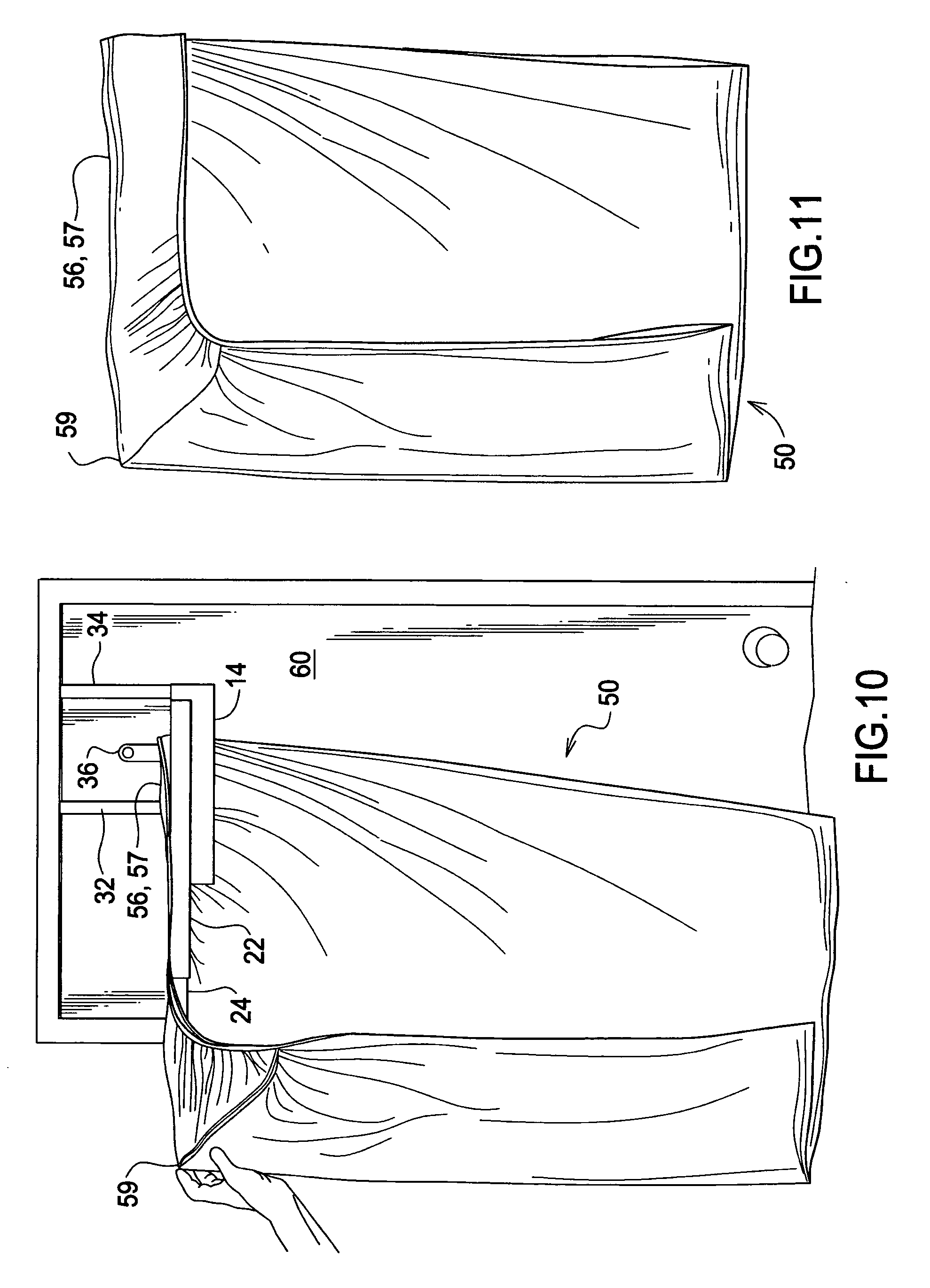 Patent US8387838 - Device for use in folding fitted sheets ...