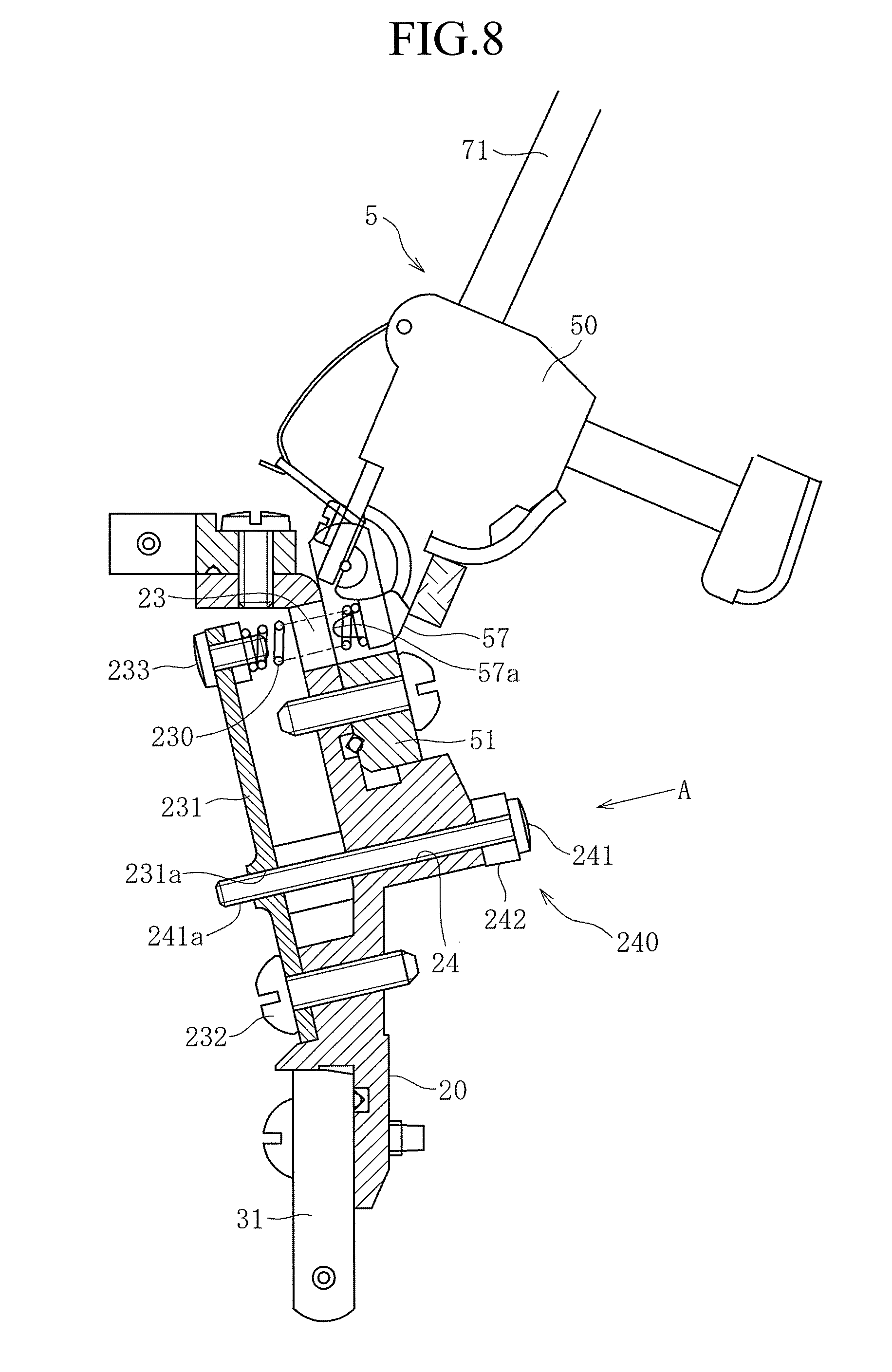 Brevet Us8389833 Upright Piano Type Action Google Brevets Isuzu Trooper Trailer Wiring Diagram Patent Drawing