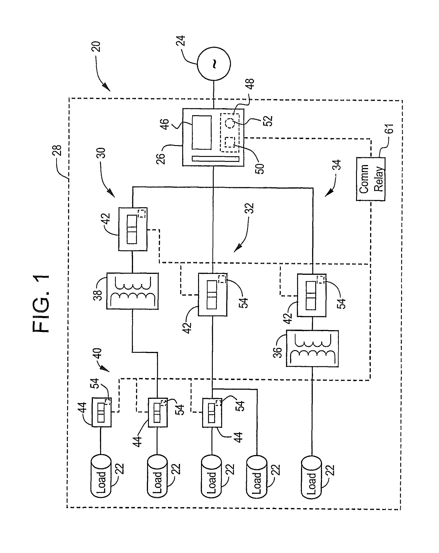 patent us8390973 - circuit breaker zone selective interlock for, Circuit diagram
