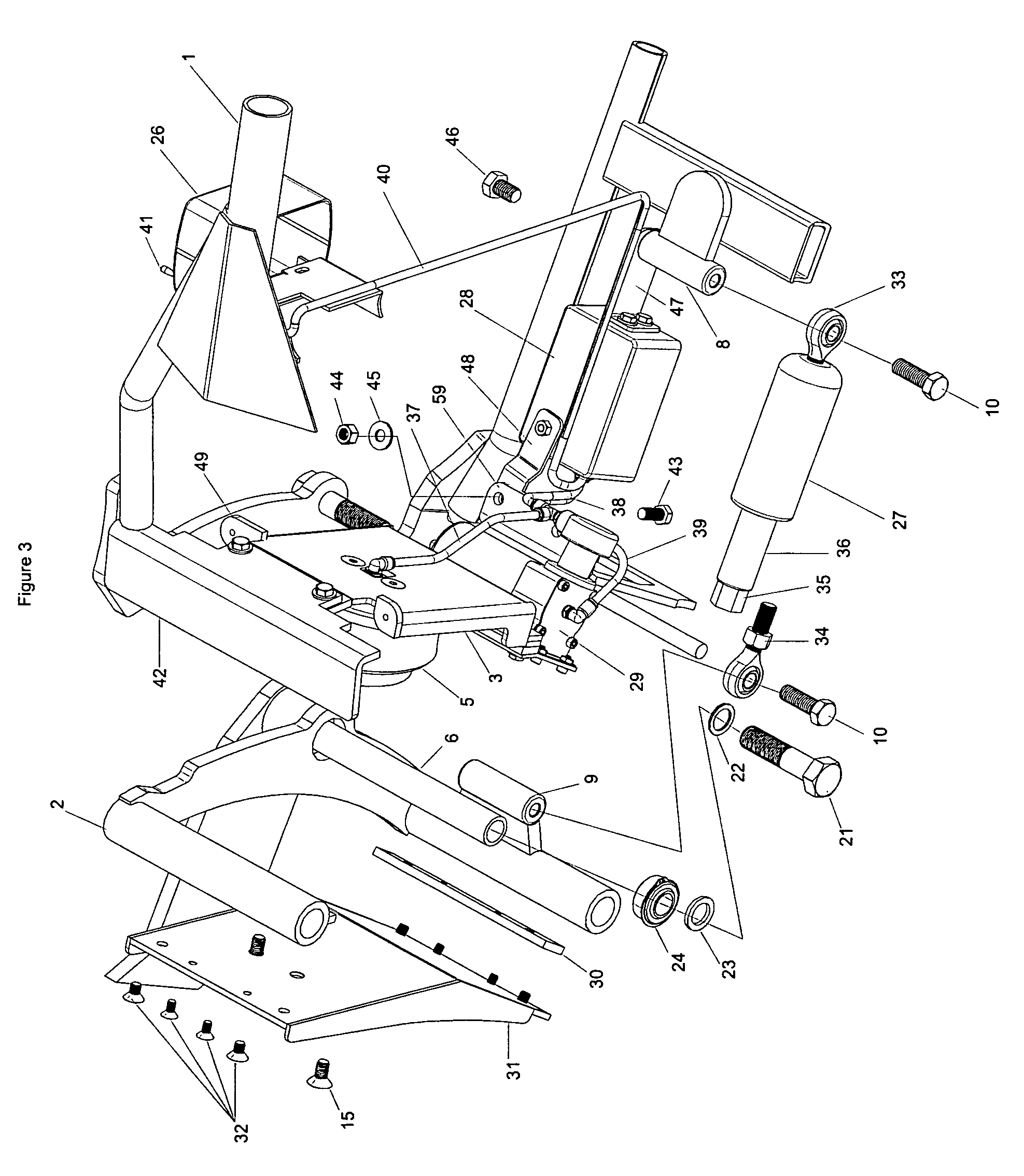 patent us8403092 - motorcycle suspension system