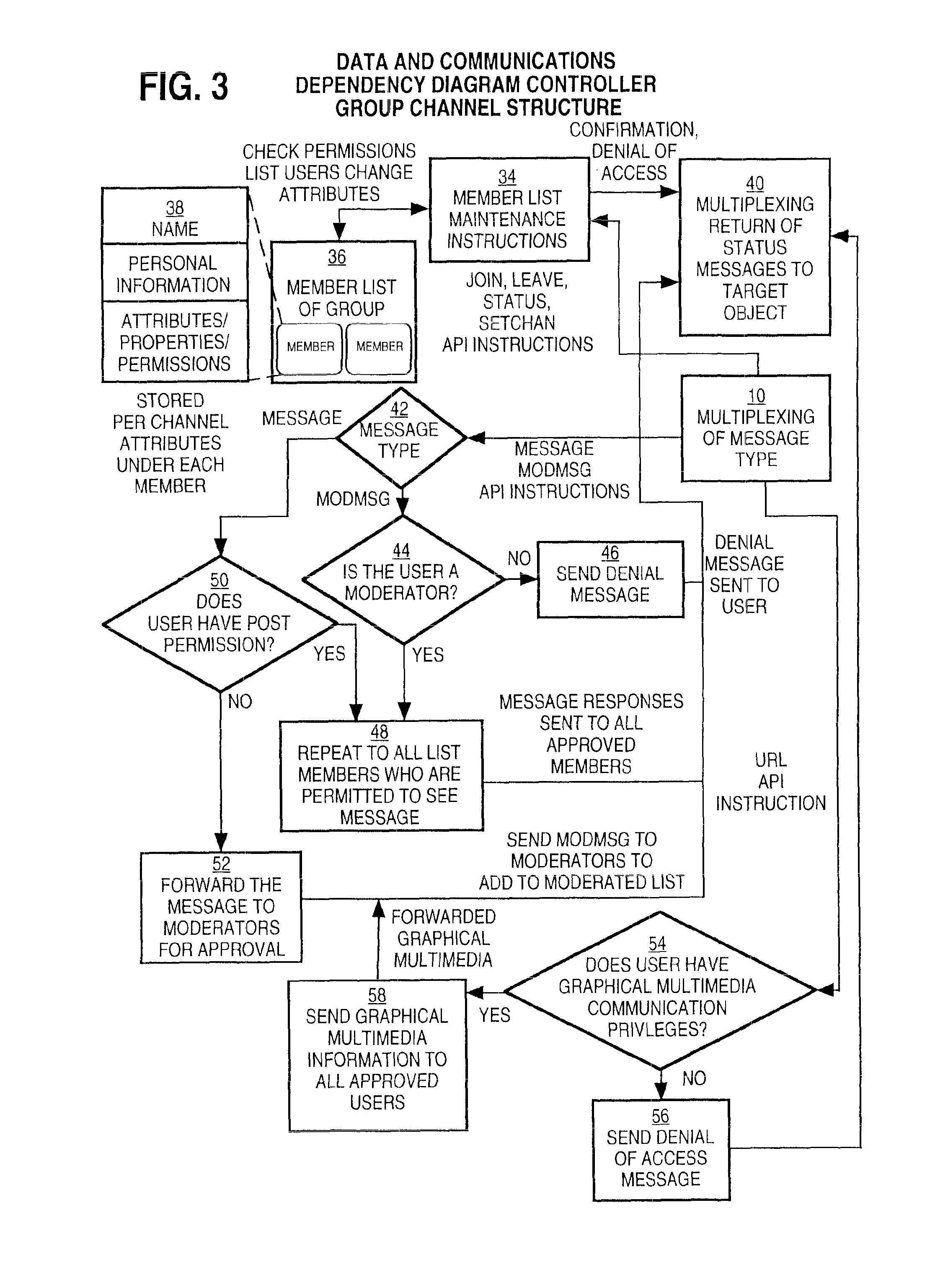 patent us real time communications system patents patent drawing