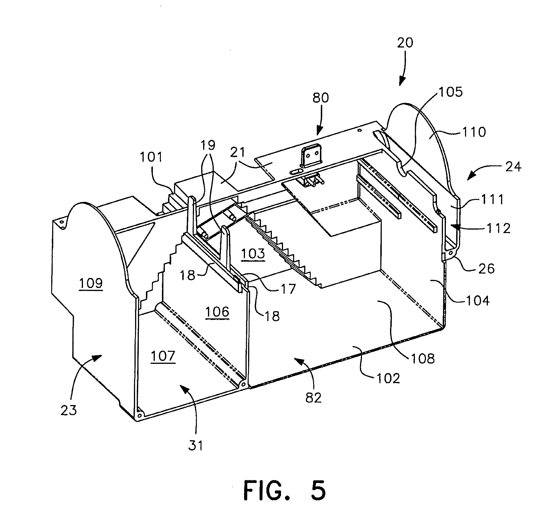 patent us8418398 - electrocuting mouse trap with automatic chamber-clearing mechanism