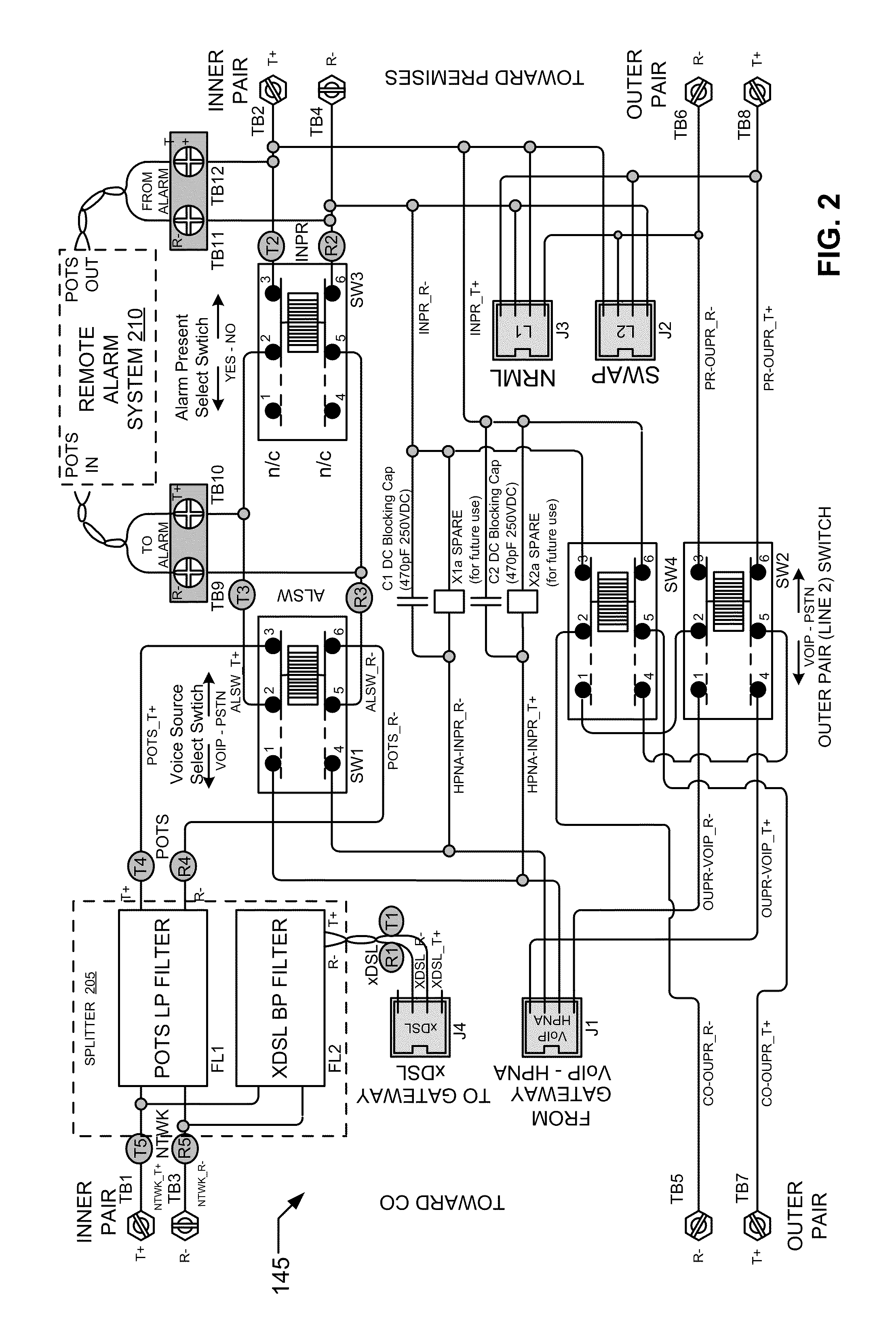plain old telephone service diagram