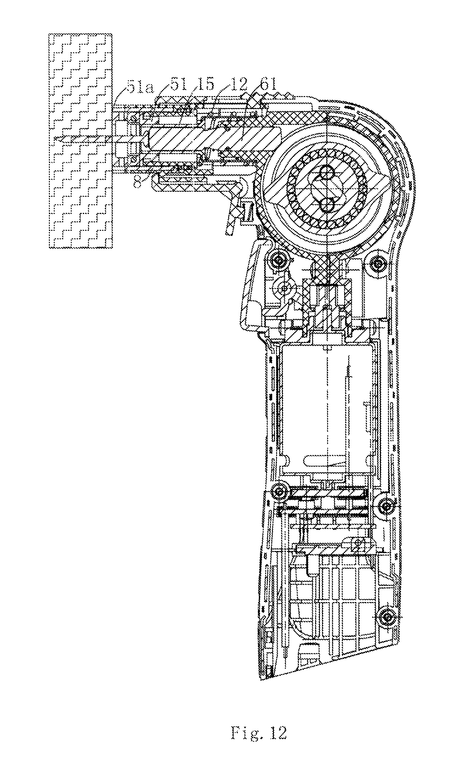 patent us  clamping mechanism for an auto hammer  google, schematic