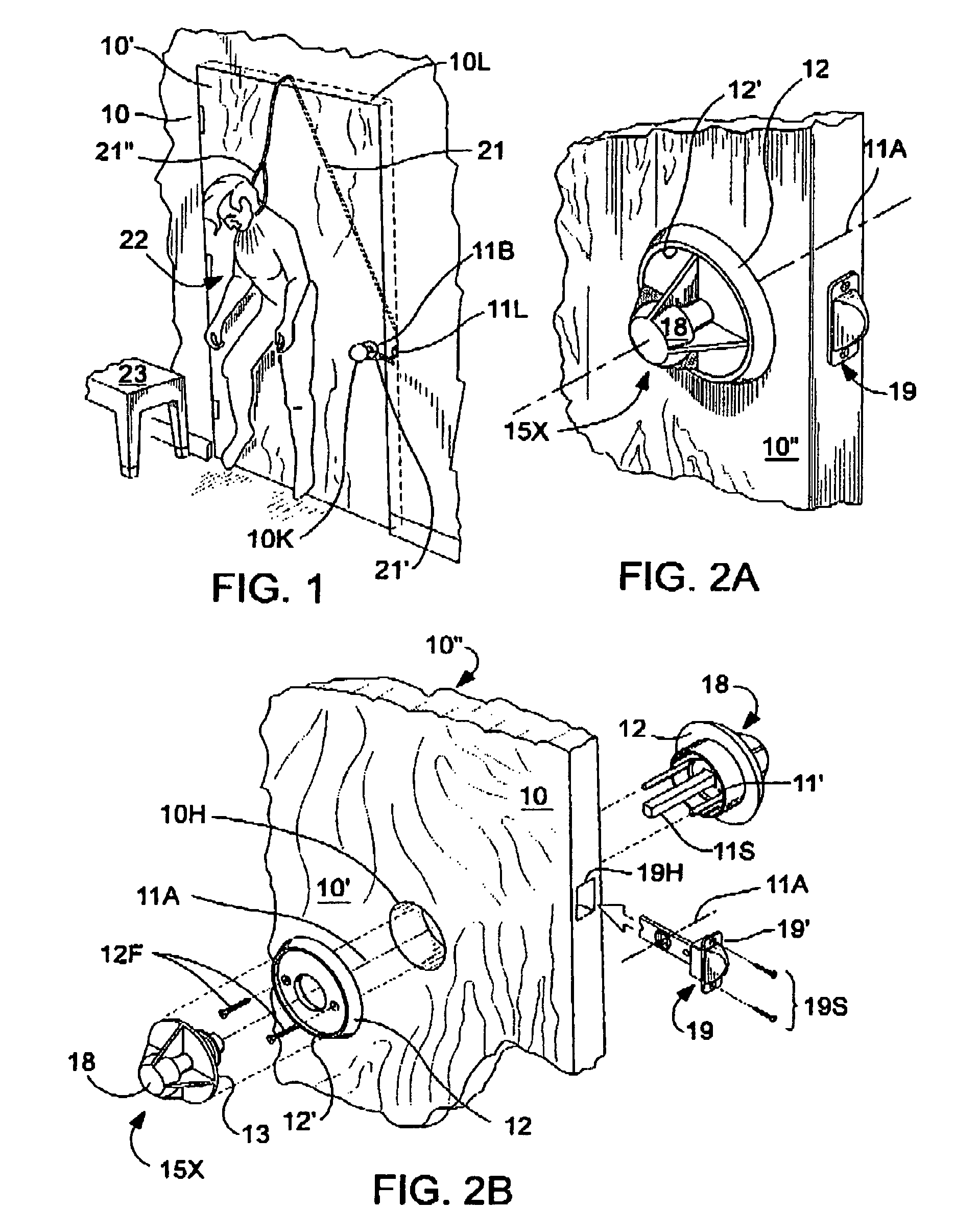Patent US8430436 Antiligative doorknob with tribeveled