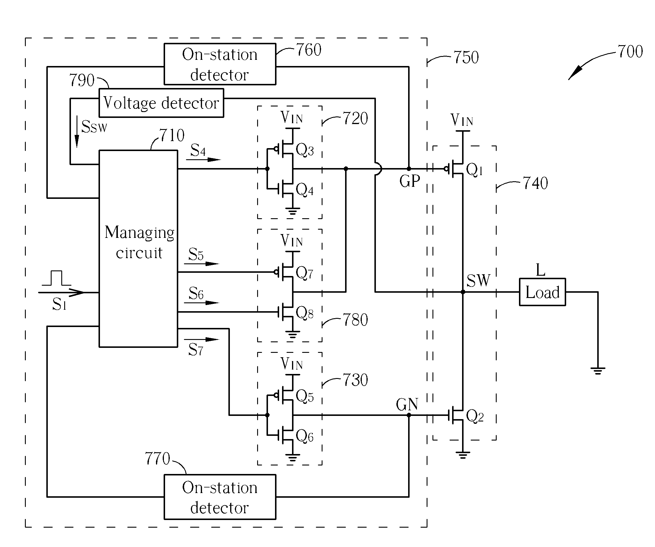 Patent Us8441243 Power Control Circuit Switching Converter Diagram Drawing