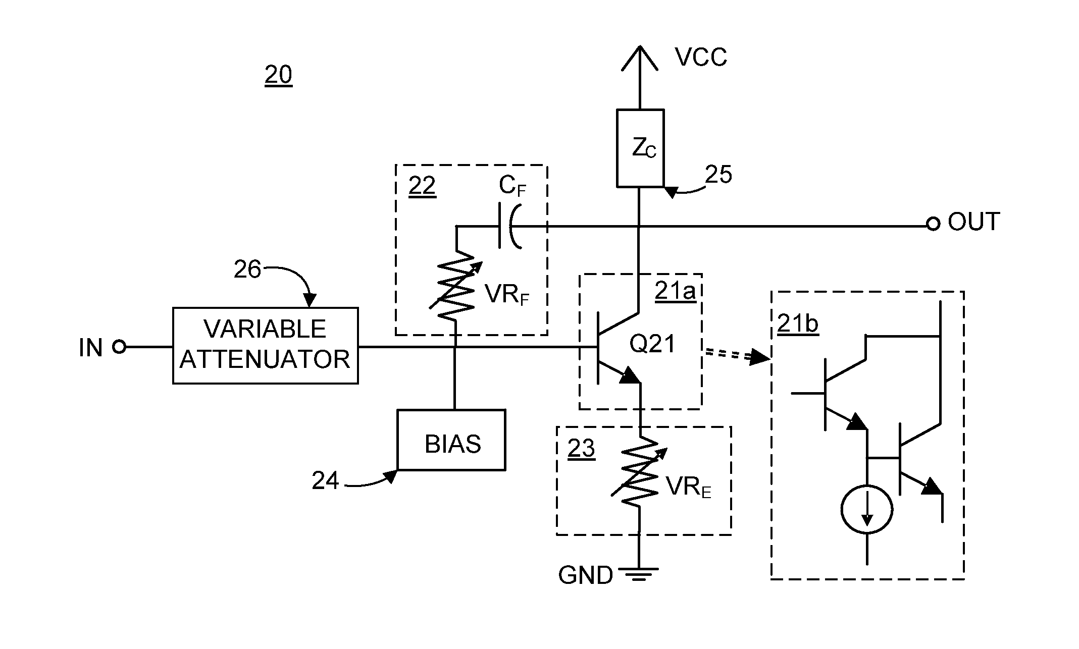 Patent Us8456237 Low Noise Variable Gain Amplifier Utilizing Wireless 51 Mosfet Circuit View Drawing