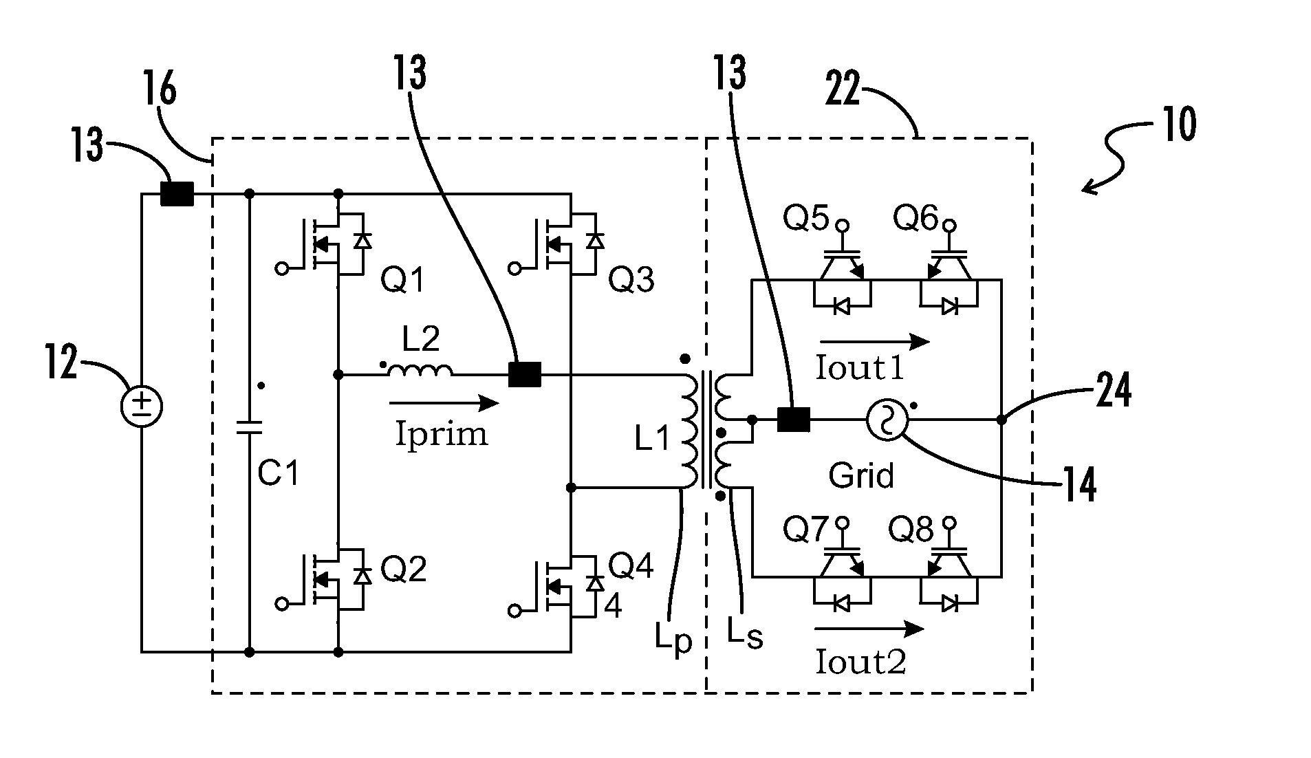Brevet Us8456865 Single Stage Micro Inverter With H Bridge Circuit Diagram Patent Drawing