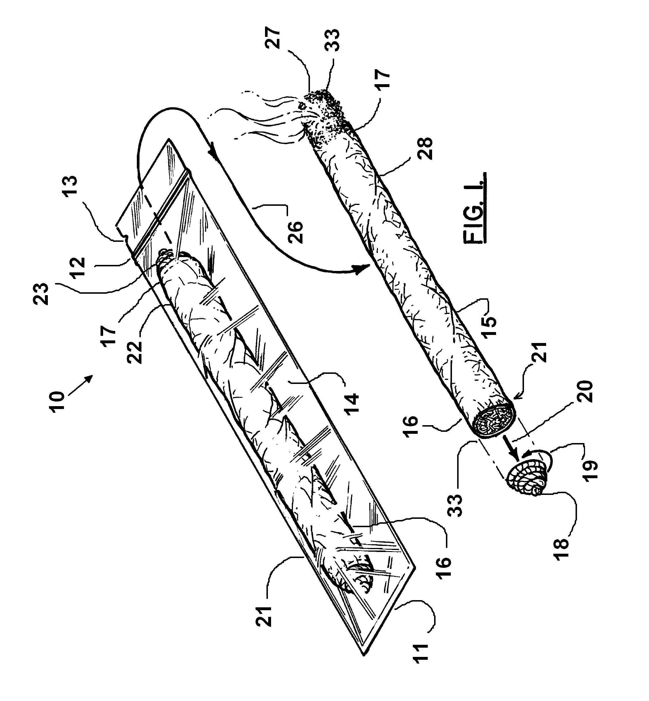Patent Drawing Lit Blunt Clip Art