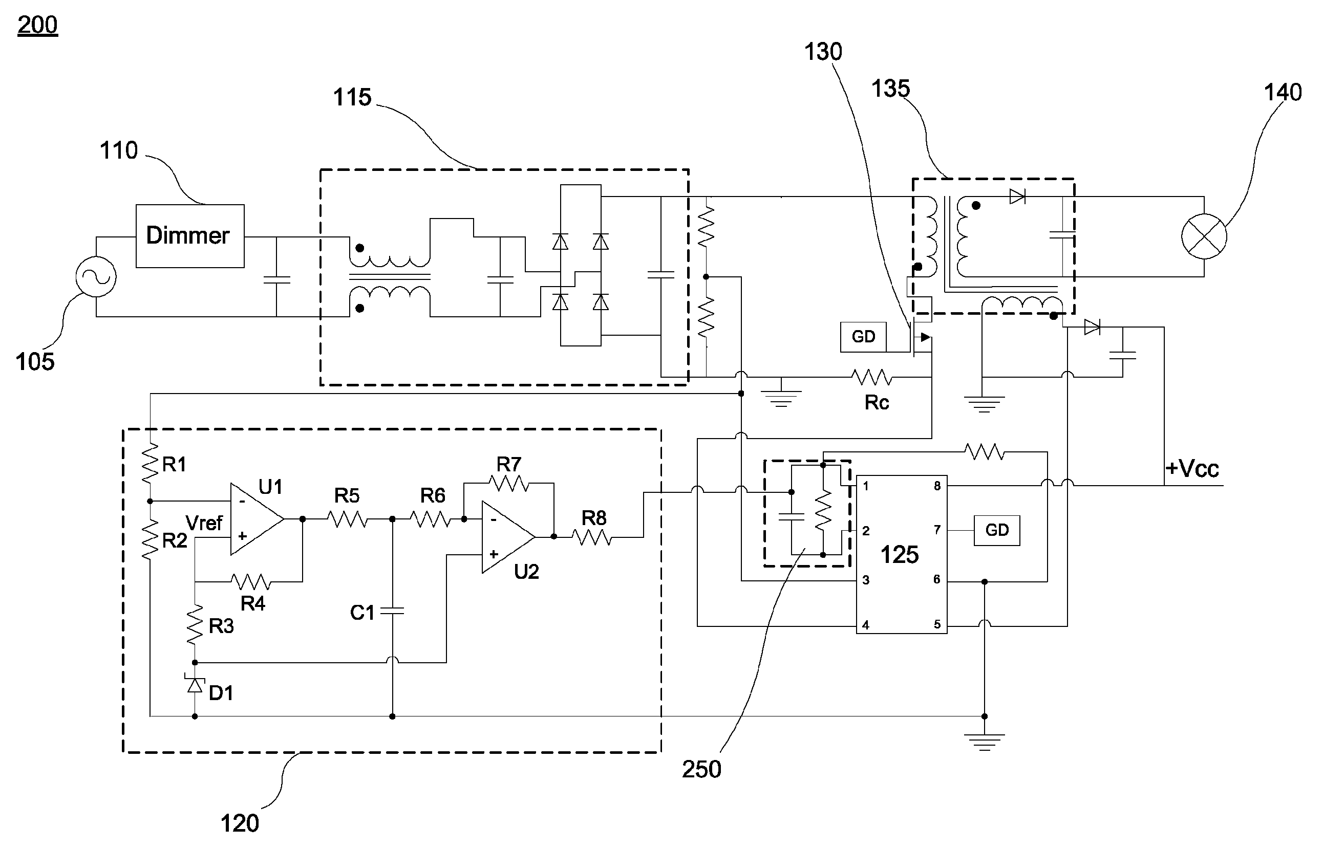 Brevet Us8466631 Lamp Driver With Triac Dimmer Compensation Based Patent Drawing