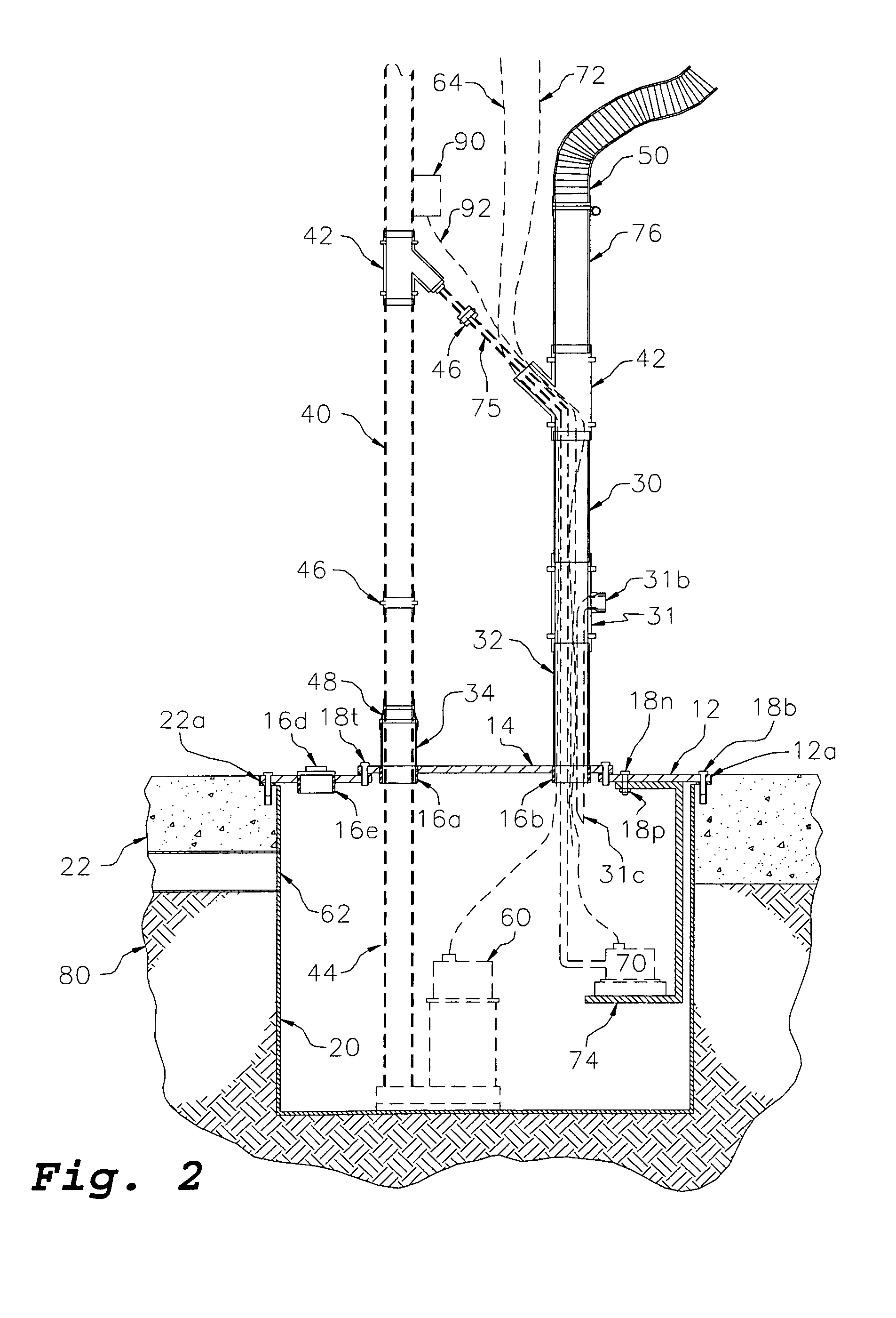 patent us8474477 - water-tight sump-pump basin cover back-up device