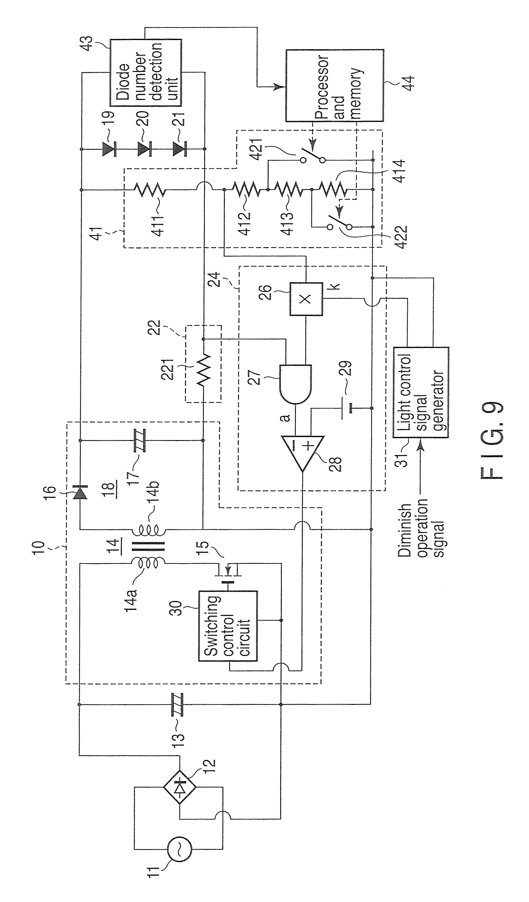 patent us8513902 - power supply unit having dimmer function and lighting unit