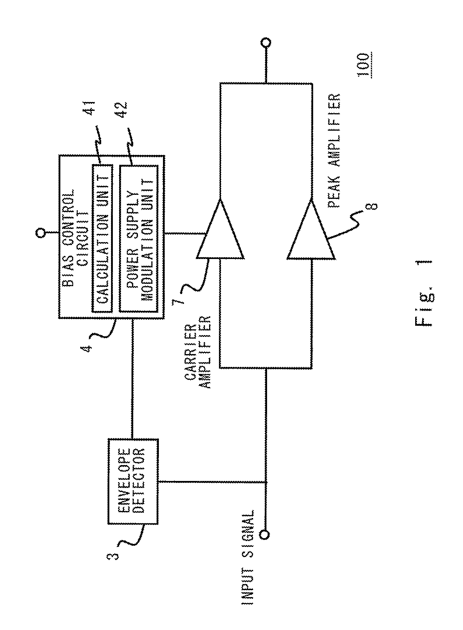 Patent Us8519787 High Frequency Amplifier Wireless Device And An Envelope Detector The Block Diagram Of Is Drawing