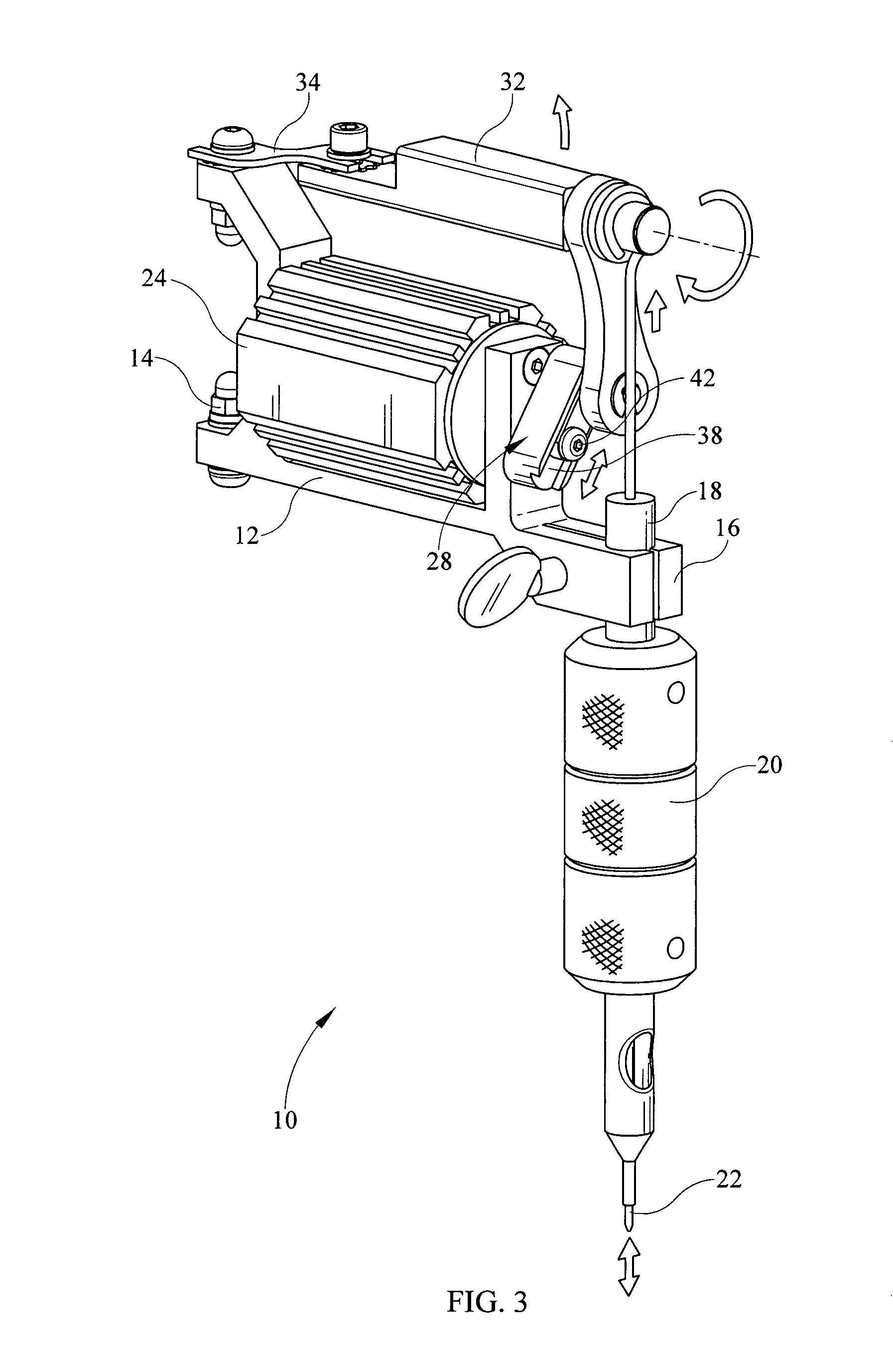 patent us8522647 - eccentric gear for tattoo machine for adjusting the needle throw