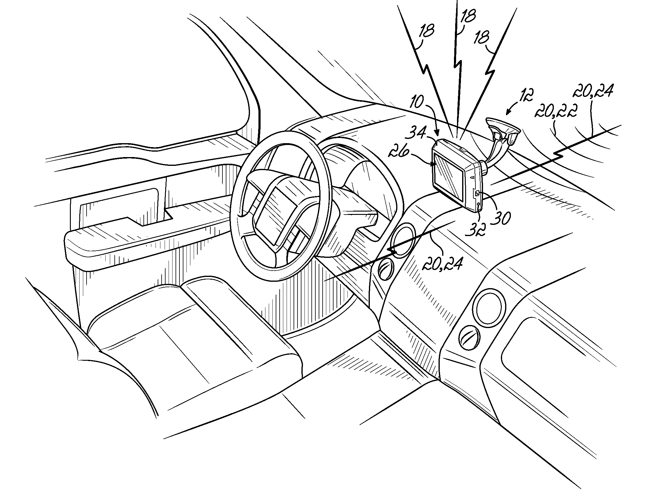 Patent Us8525723 Radar Detector With Navigation Function Google 2006 Dodge Dakota Wiring Harness Drawing