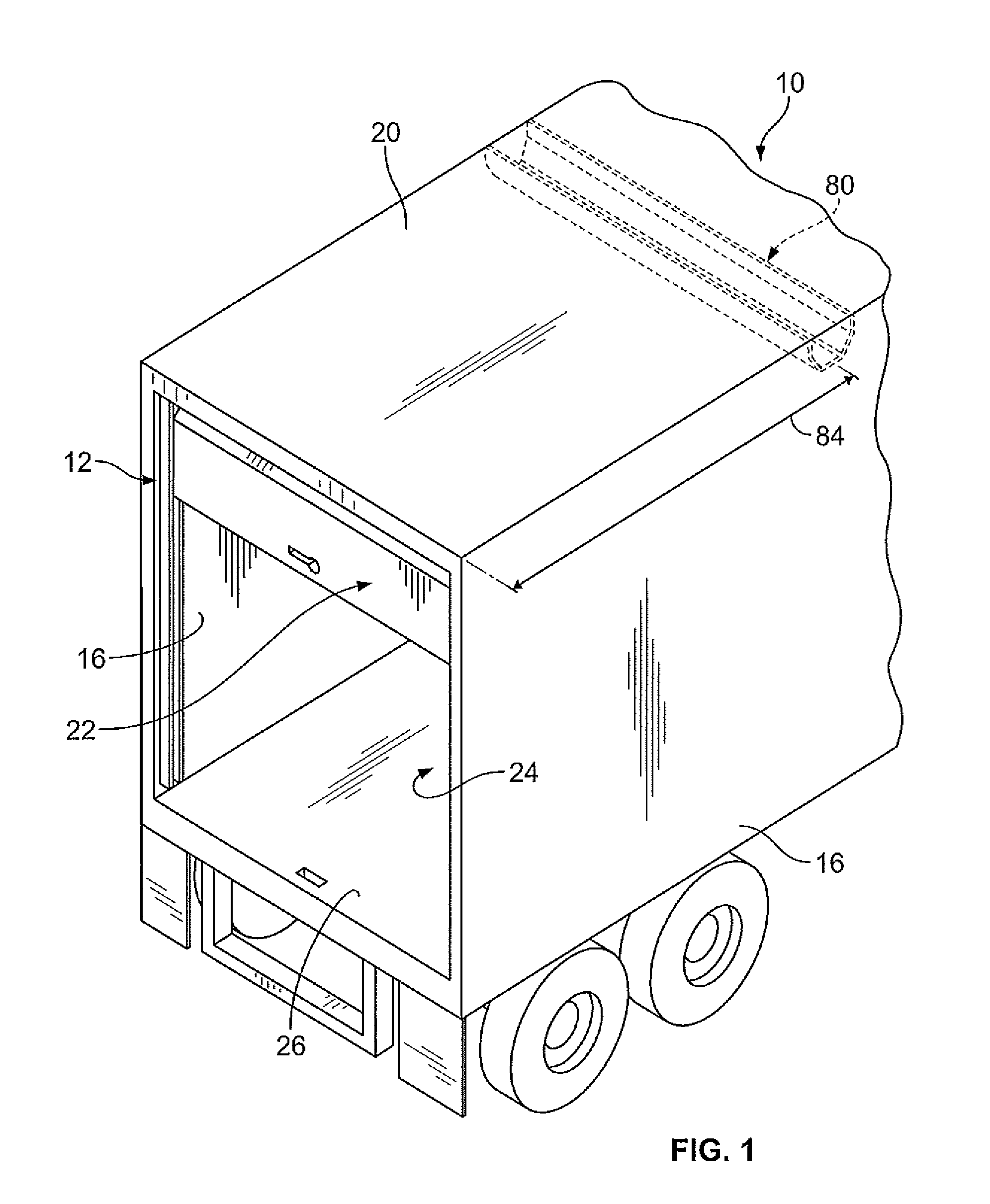 patent us overhead door assembly for a storage container patent drawing