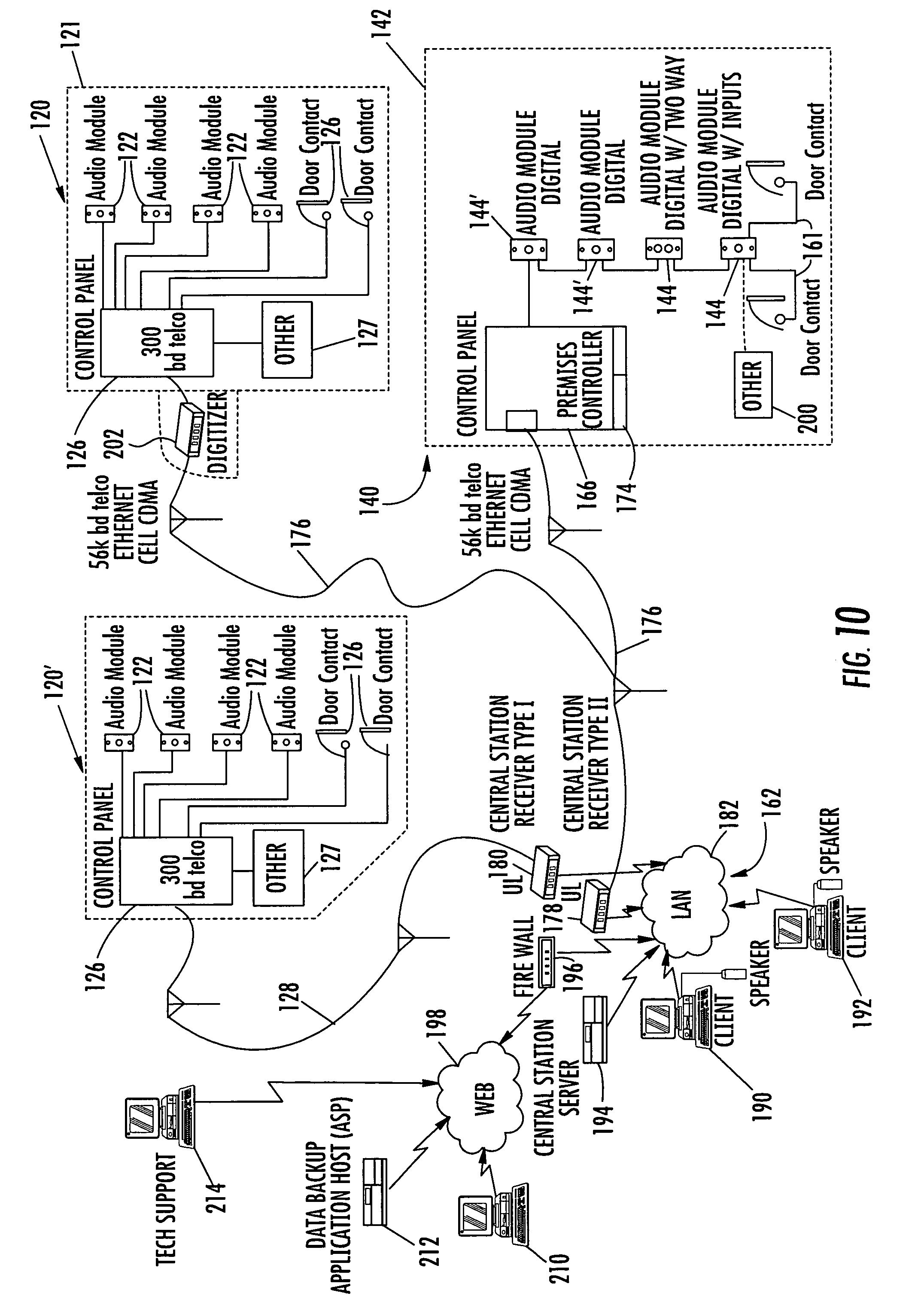 US08531286 20130910 D00012 patent us8531286 system and method for monitoring security at a sonitrol alarm wiring diagram at bakdesigns.co