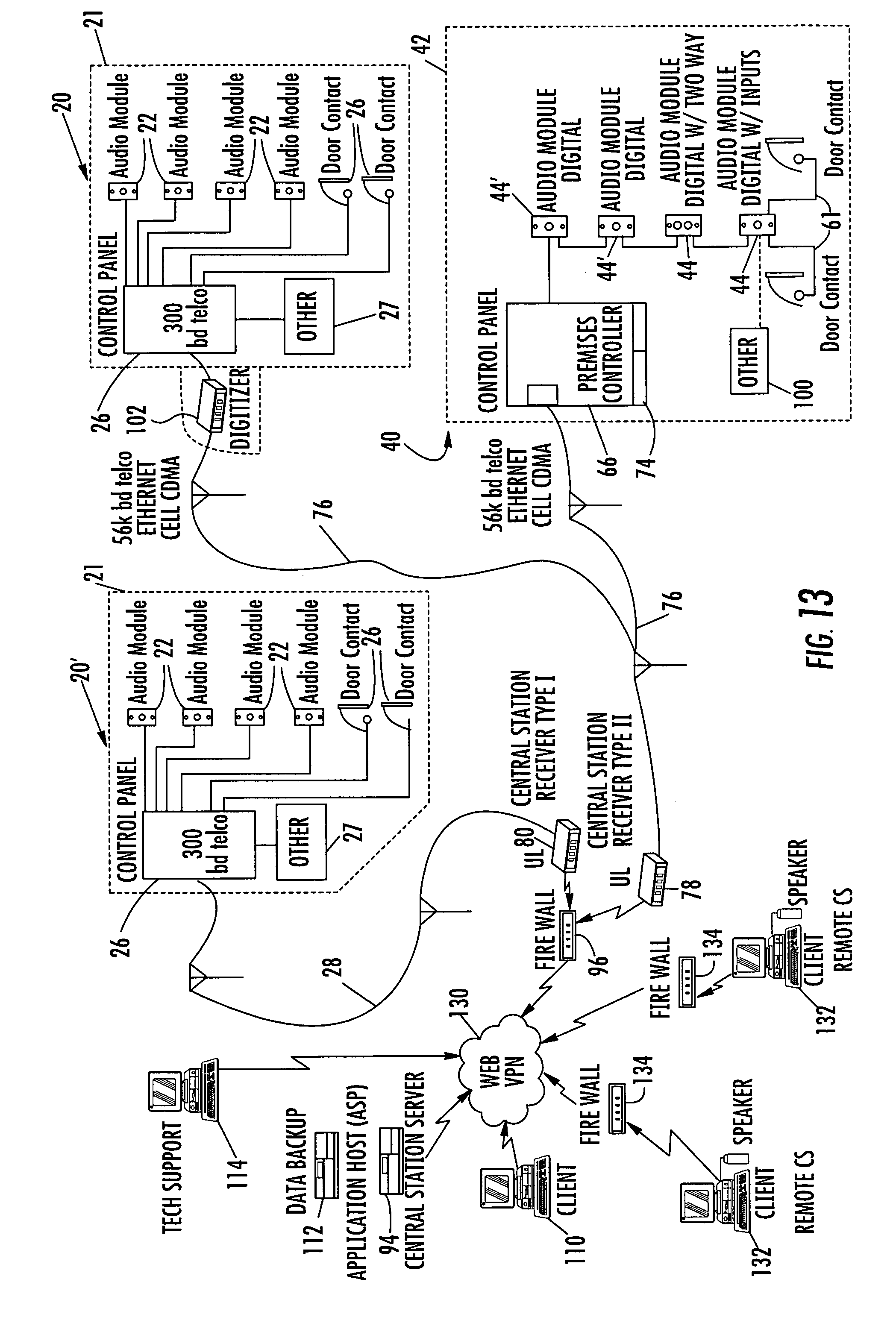 US08531286 20130910 D00015 patent us8531286 system and method for monitoring security at a sonitrol alarm wiring diagram at nearapp.co