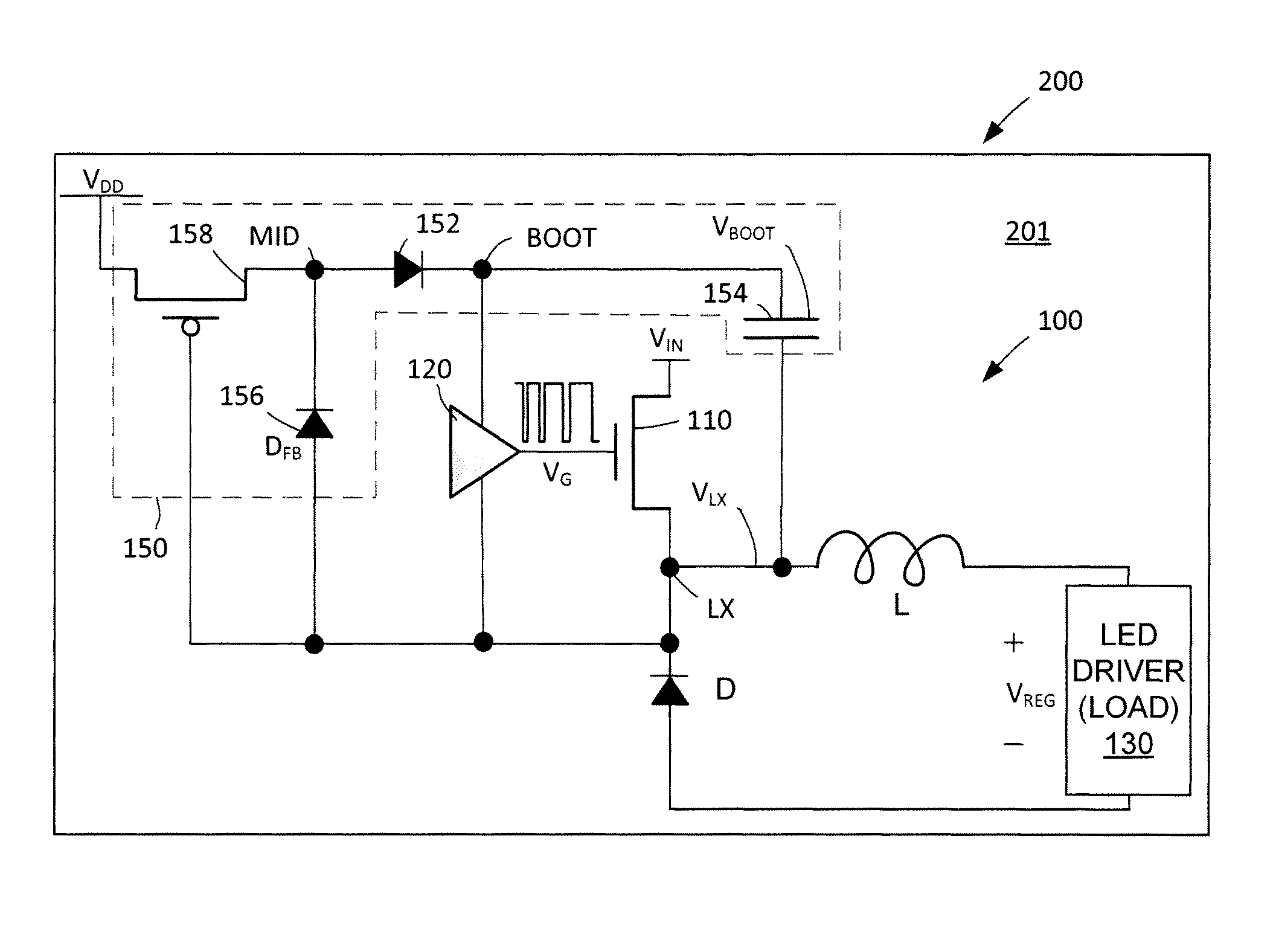 patent us8536808  dc buck converter using low voltage cmos diode