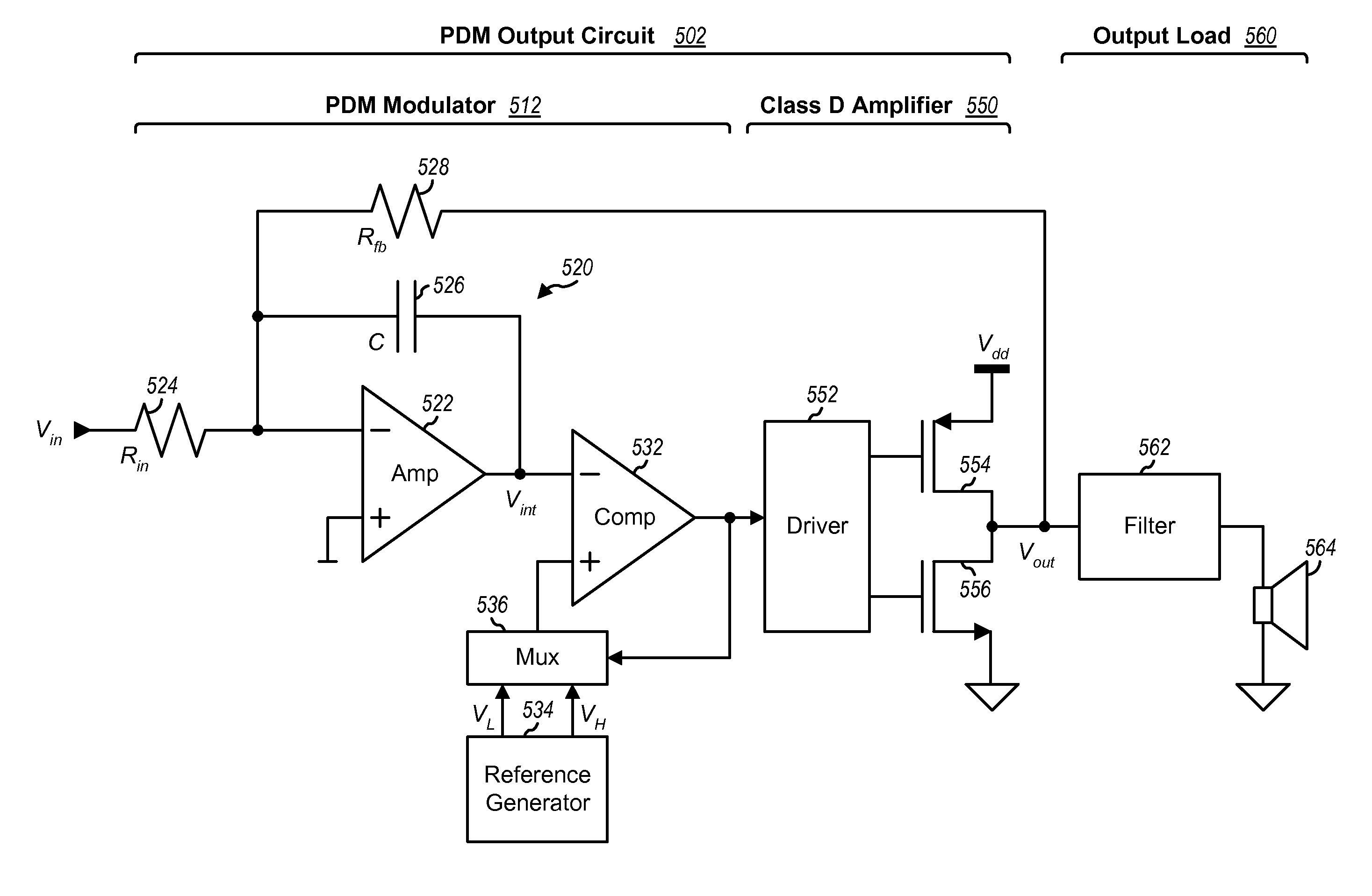 patent us8536938 - output circuits with class d amplifier