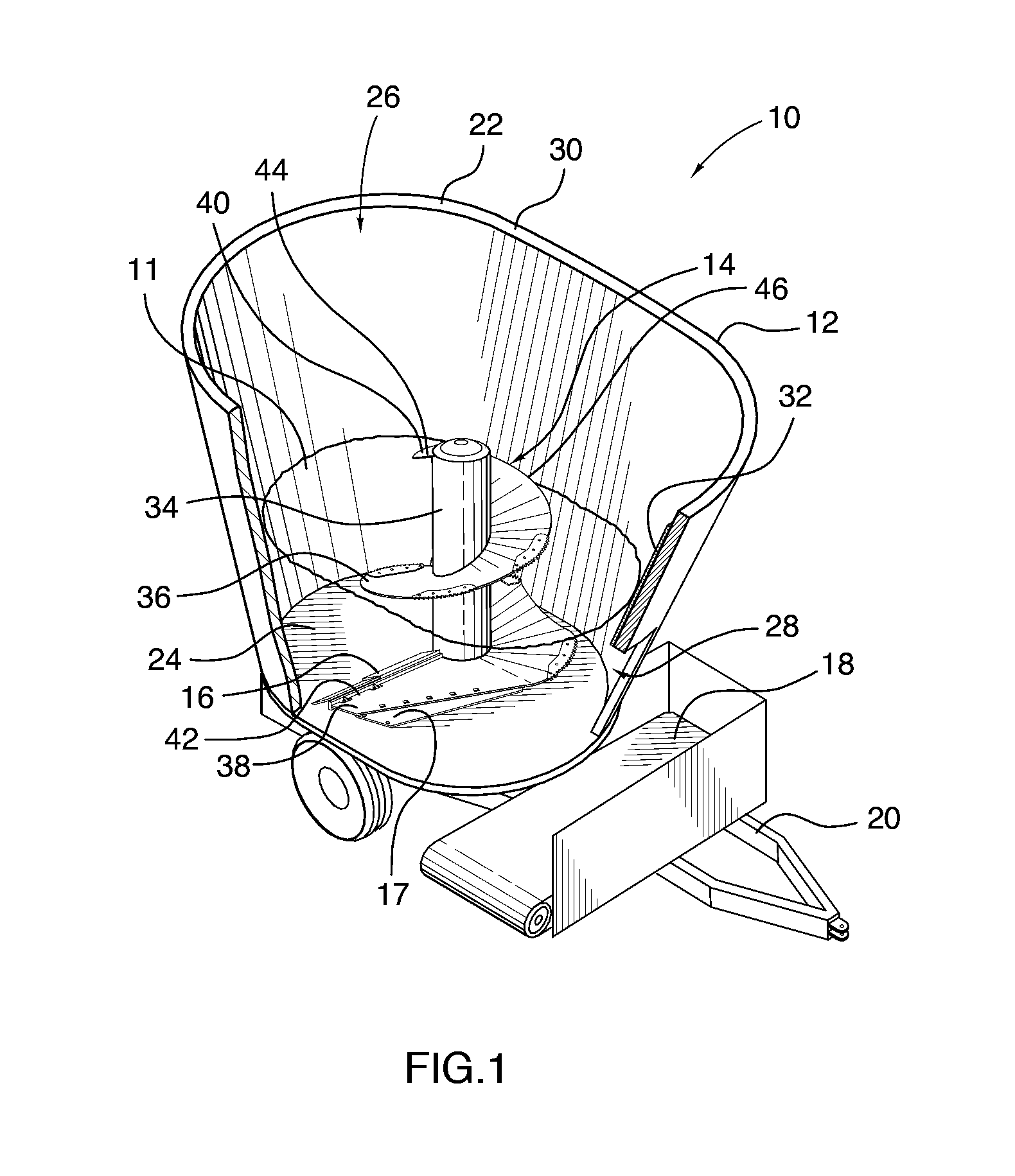 Patent Us8540177 Vertical Feed Mixer Having Cutout Edge Google 1996 Ford 7 3 Diesel Engine Diagram Drawing