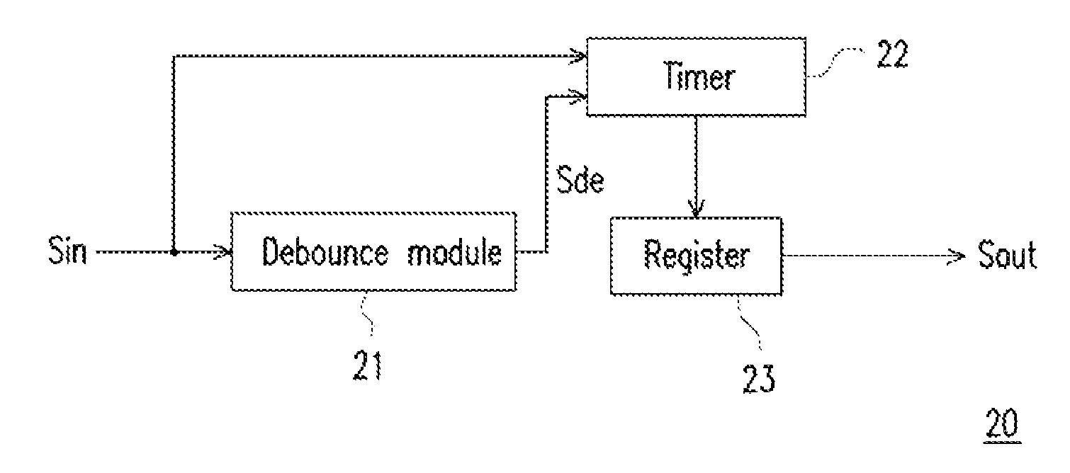 Patent Us8558606 Debounce Apparatus And Method Thereof Google Debouncing Circuit Drawing