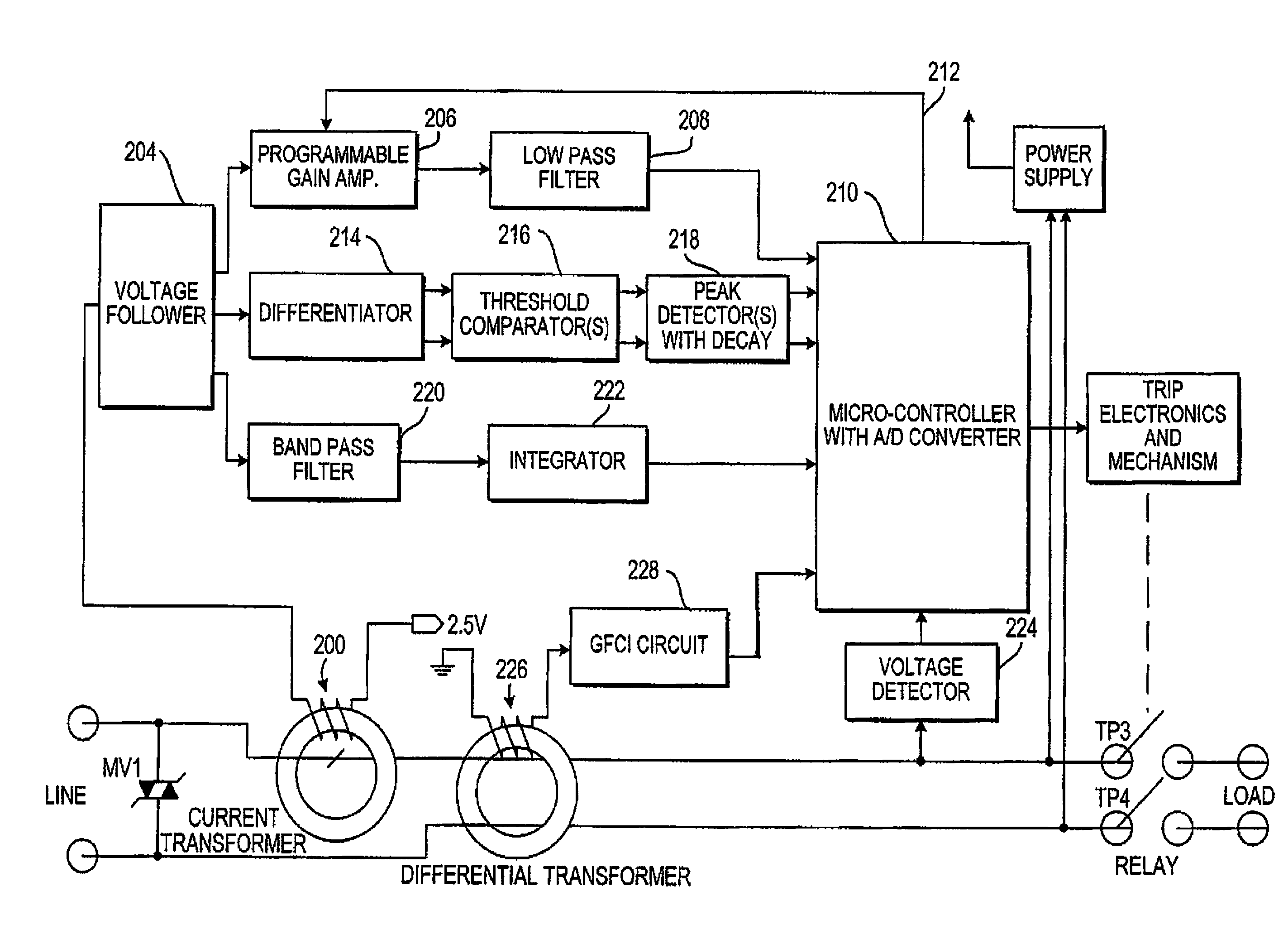 Brevet Us8564307 Arc Fault Detector With Circuit Interrupter Or Afci Fundamentals Patent Drawing