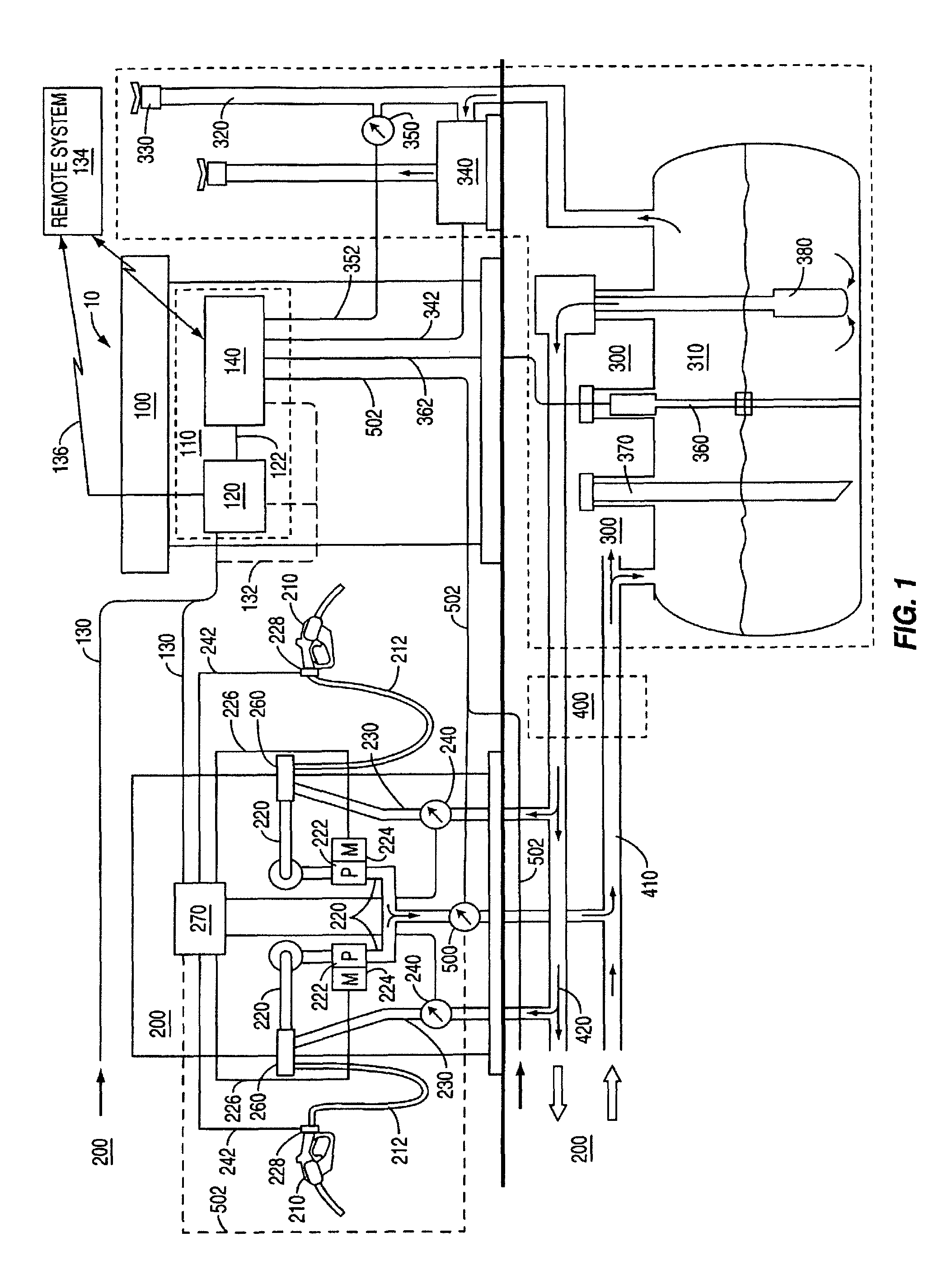 US08573262 20131105 D00001 patent us8573262 system and method for automatically adjusting veeder root tls 350 wiring diagram at bayanpartner.co