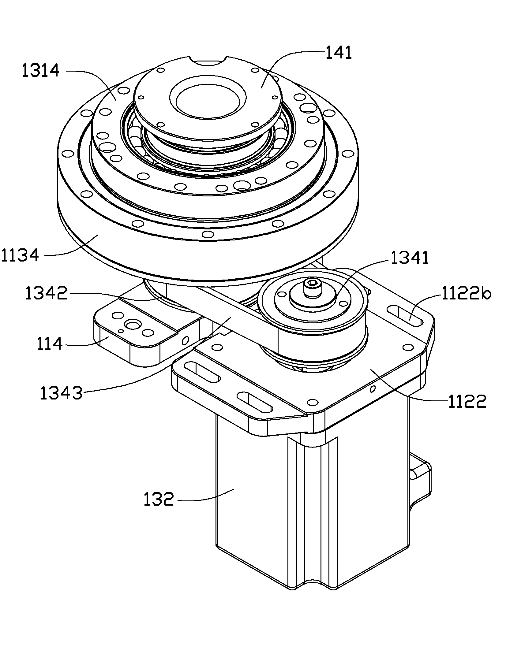 patent us8584548 - robot arm assembly with harmonic drive