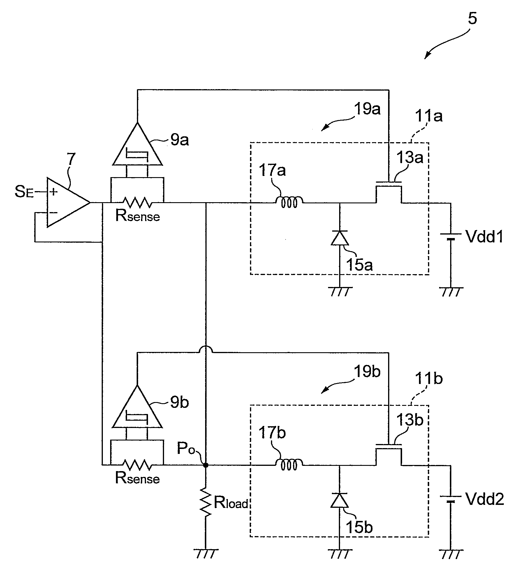 Brevet Us8587271 Envelope Tracking Power Supply Circuit And High Schematic Patent Drawing