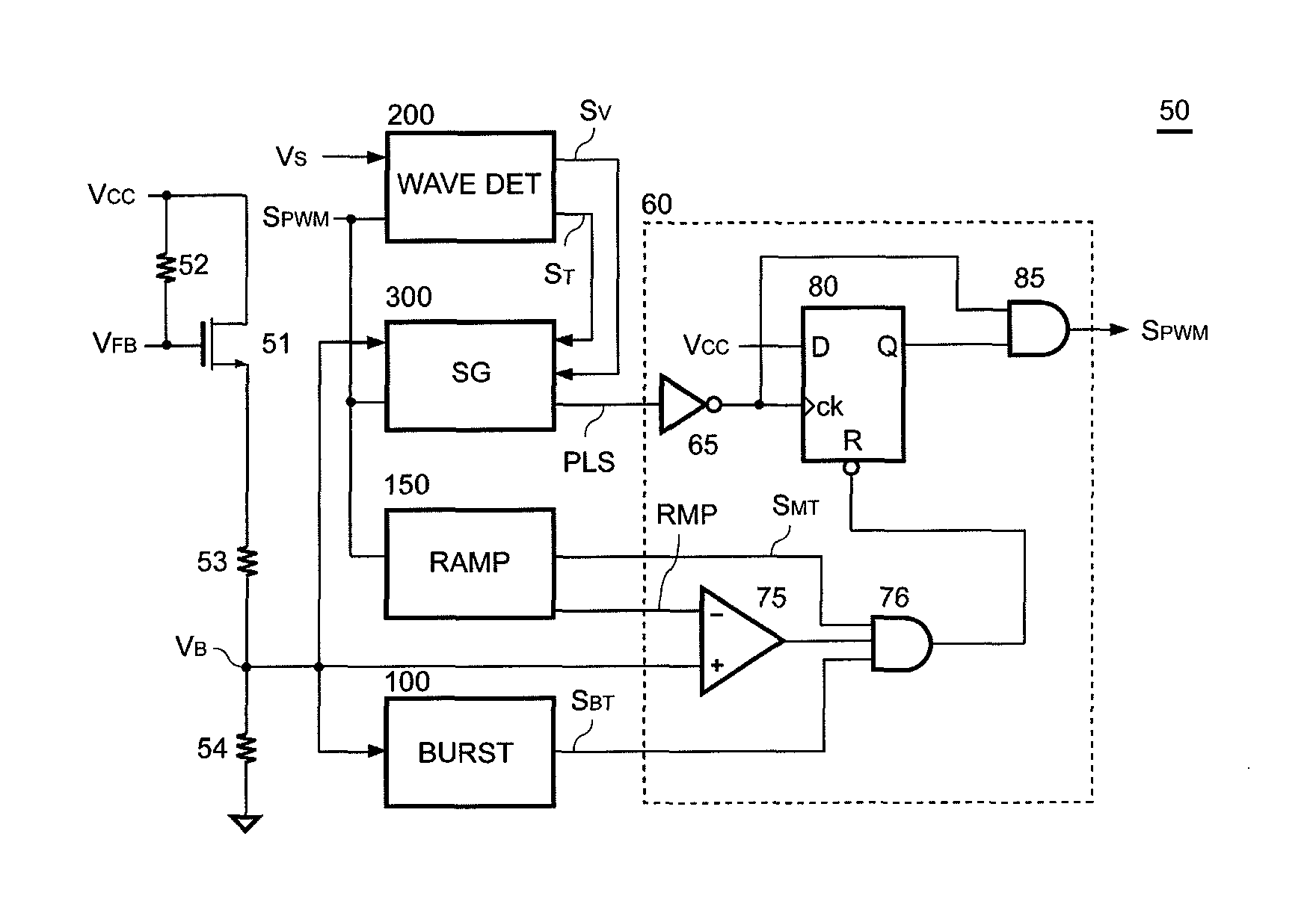 Patent Us8587964 Control Circuit With Burst Mode And Extended Energy Saving Lamp Diagram Controlcircuit Drawing